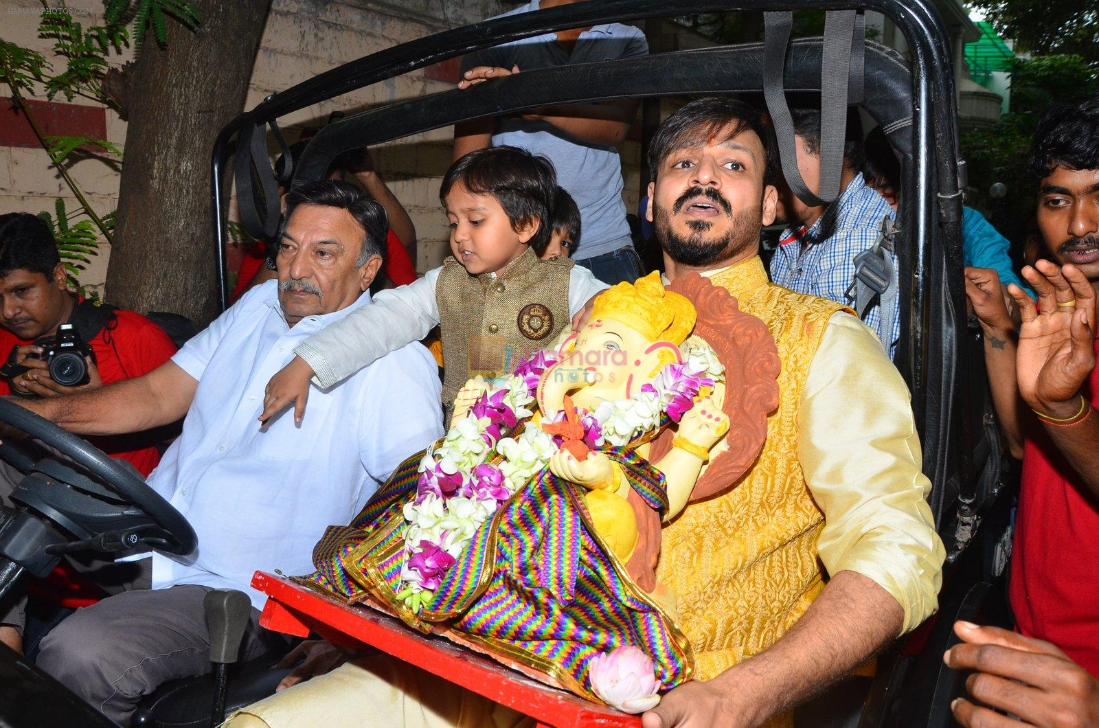 Vivek Oberoi Ganpati Visarjan on 9th Sept 2016