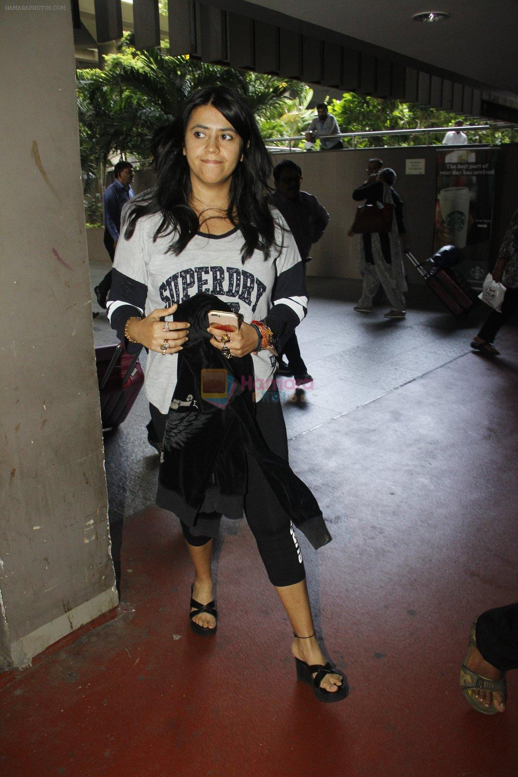 Ekta Kapoor snapped at airport on 9th Sept 2016
