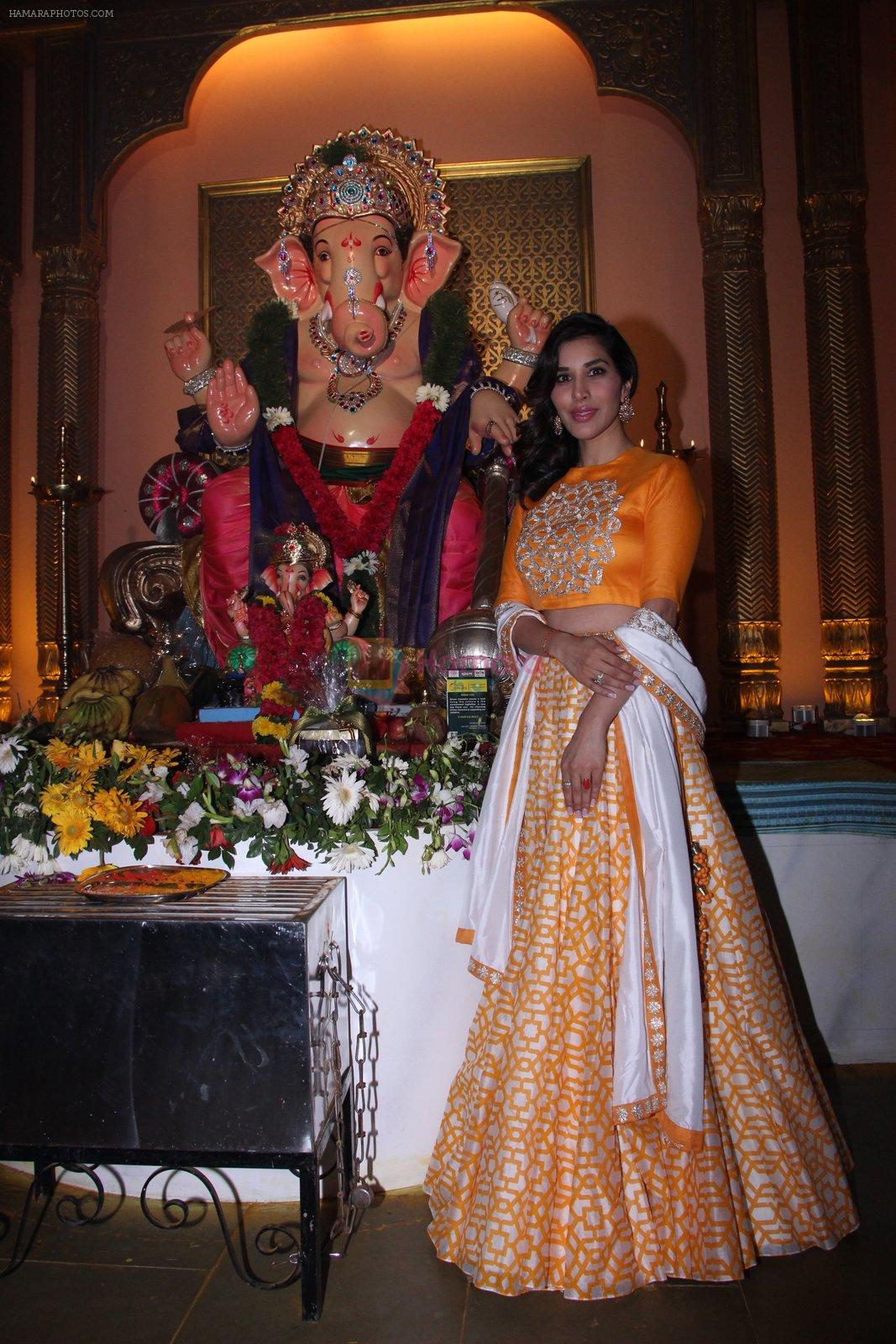 Sophie Choudry at Ganpati mandal on 9th Sept 2016