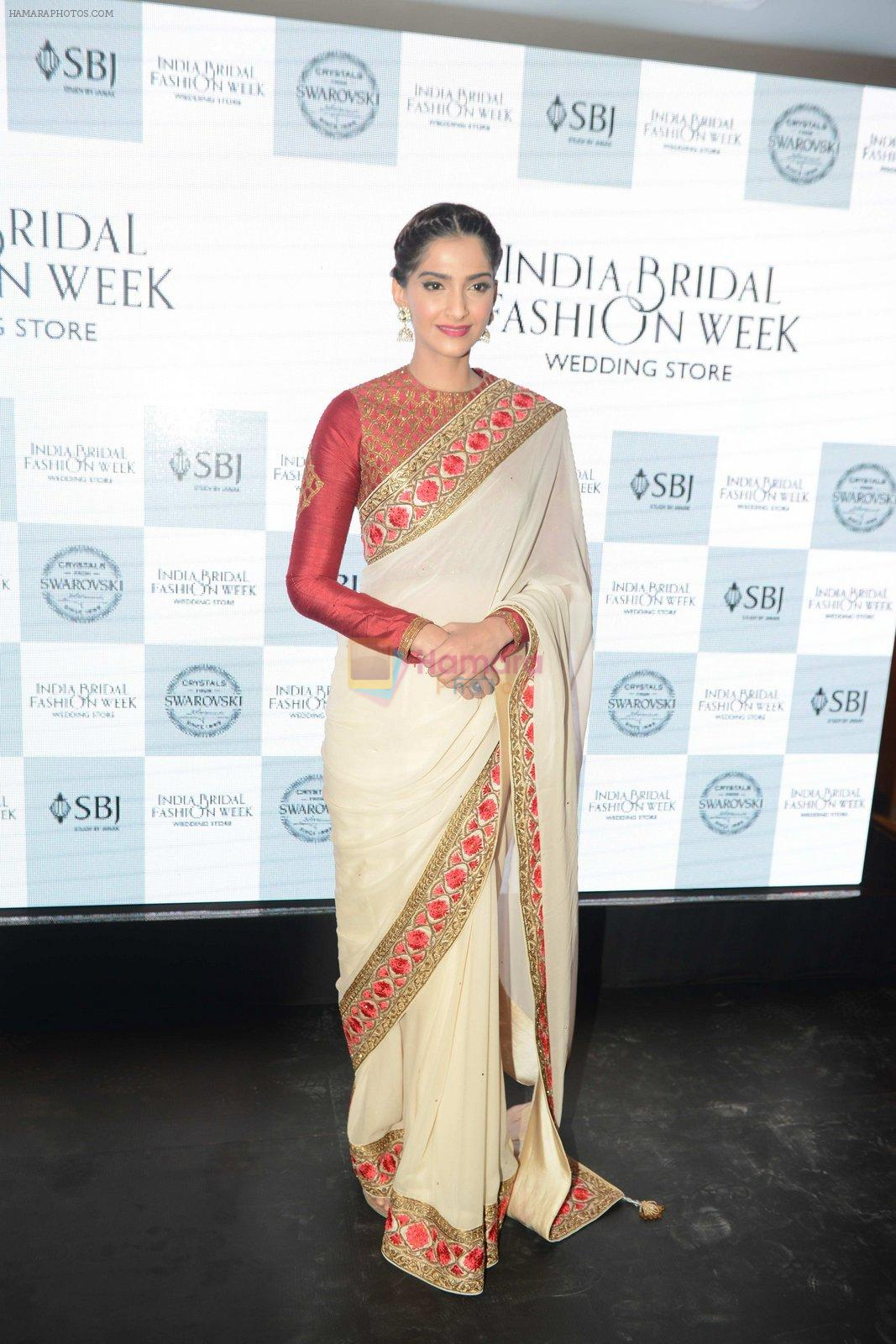 Sonam Kapoor during the launch of the first Indian Bridal Fashion Week Wedding Store, in New Delhi on 9th Sept 2016