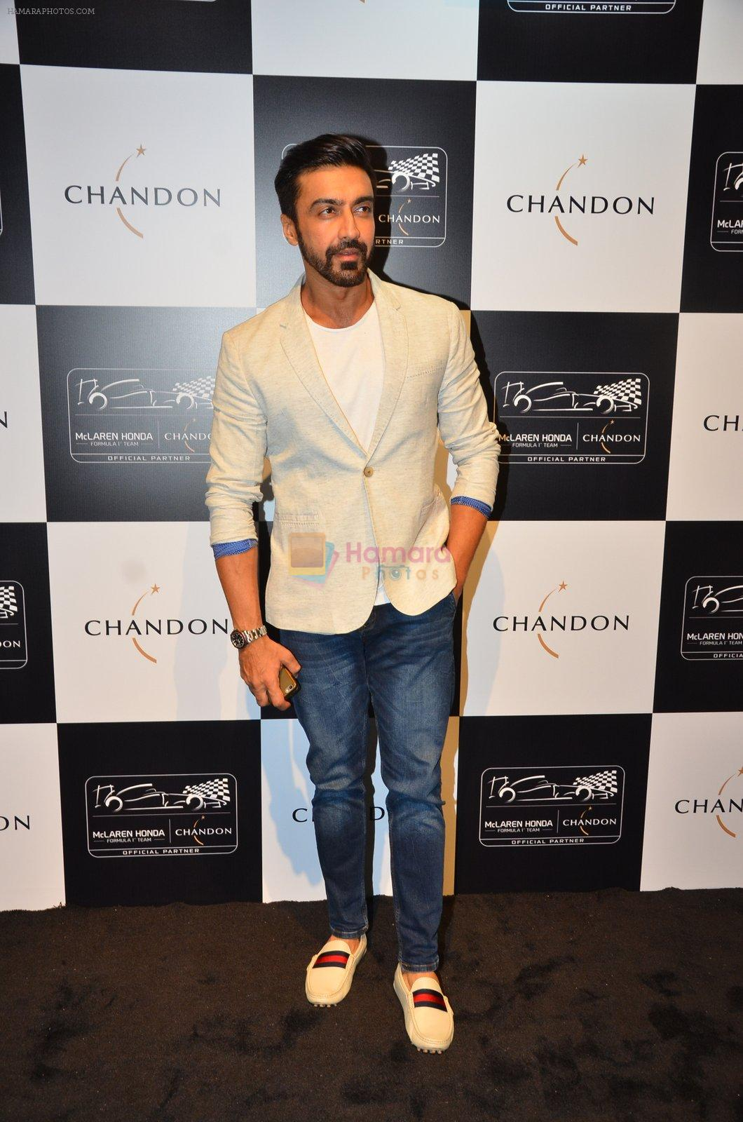 Aashish Chaudhary at the unveiling Chandon X McLaren Honda installation in Mumbai on 9th Sept 2016