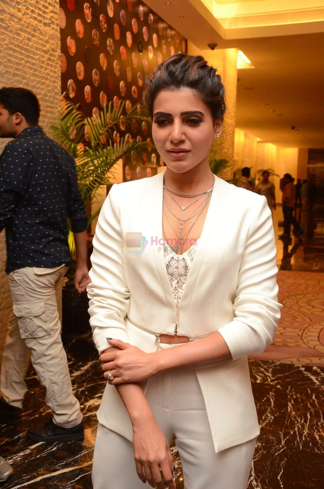 Samantha Ruth Prabhu at Janatha Garage success meet on 10th Sept 2016