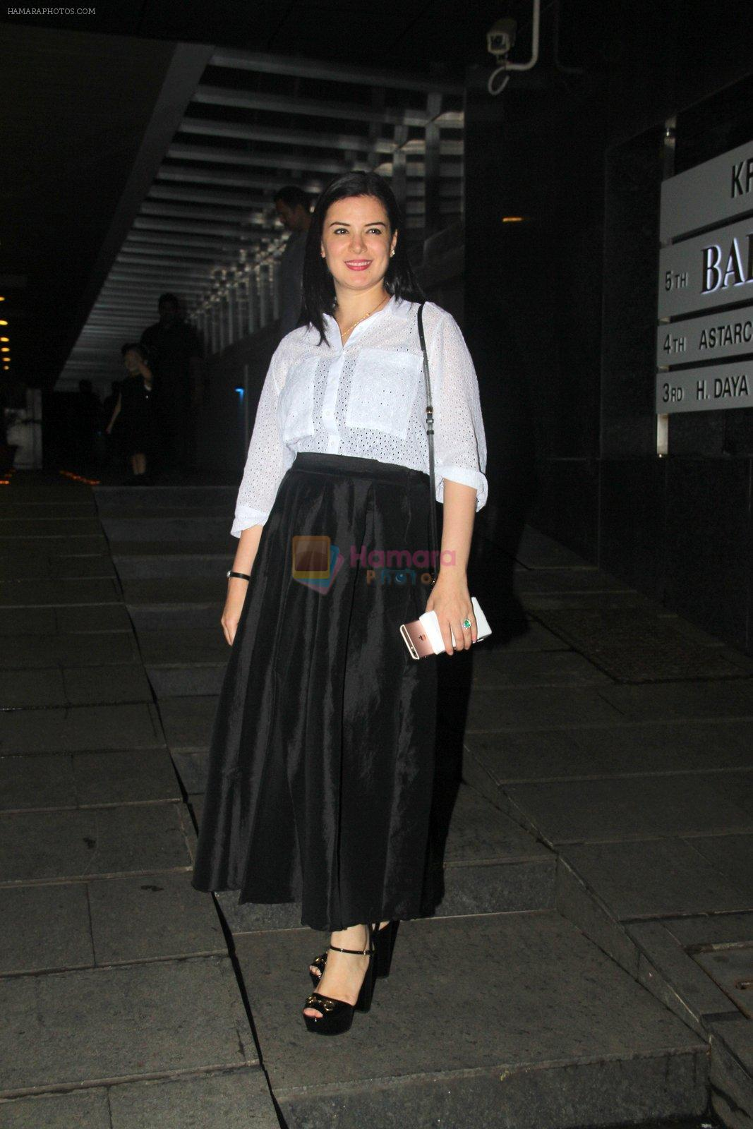 Urvashi Sharma snapped at Hakassan on 10th Sept 2016