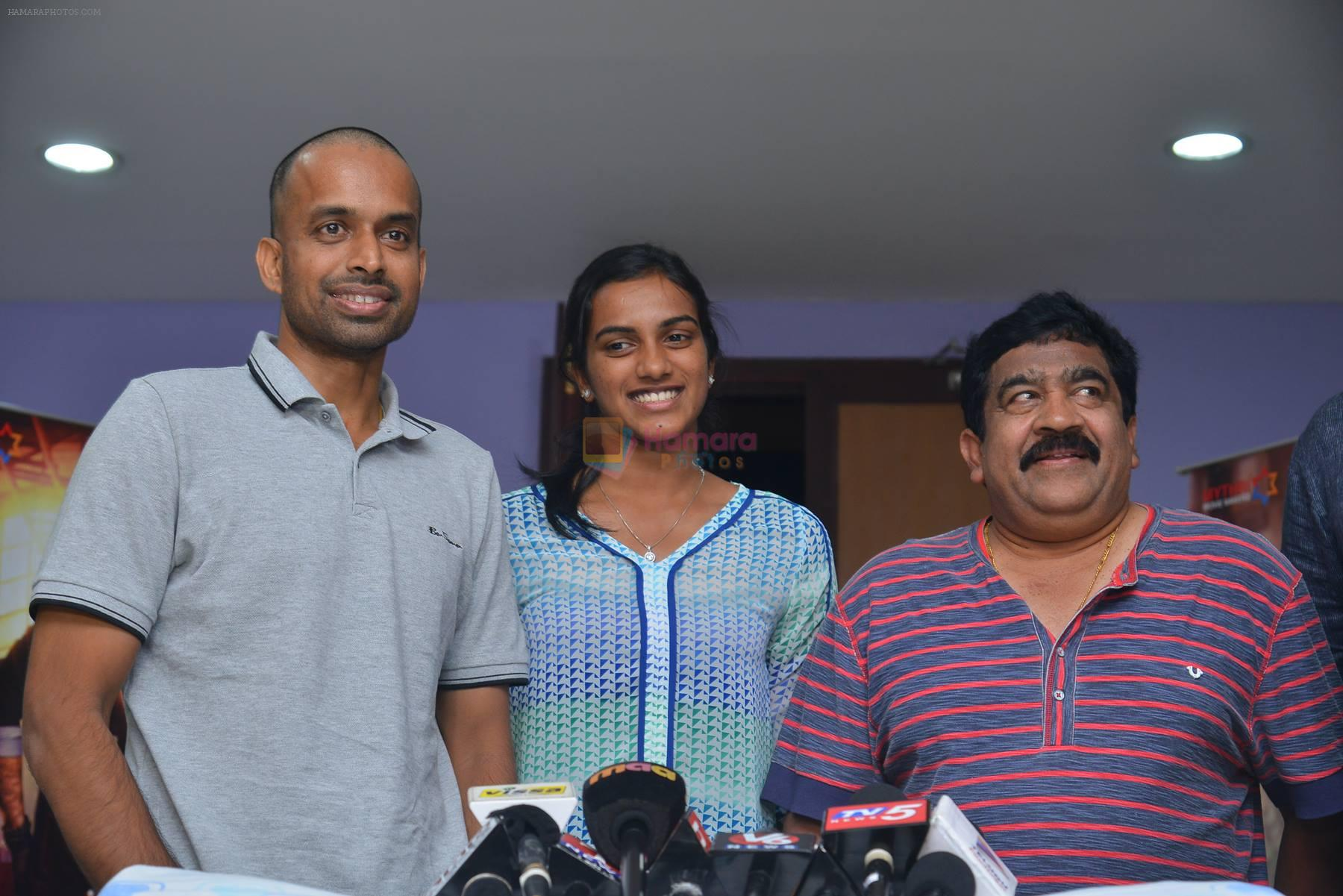 PV Sindhu, Pullela Gopichand, Chamundeswaranath at Janatha Garage show on 11th Sept 2016