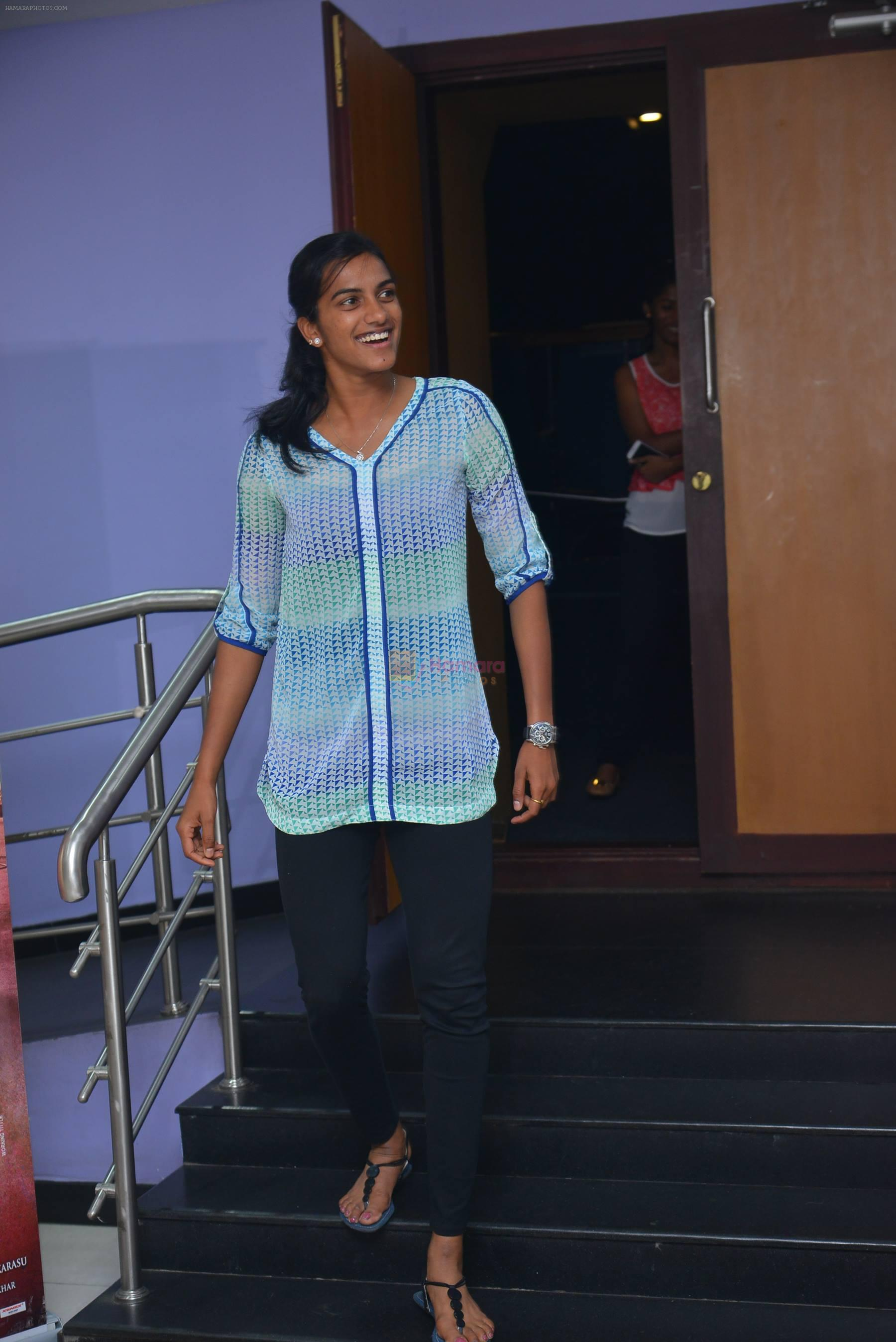 PV Sindhu at Janatha Garage show on 11th Sept 2016