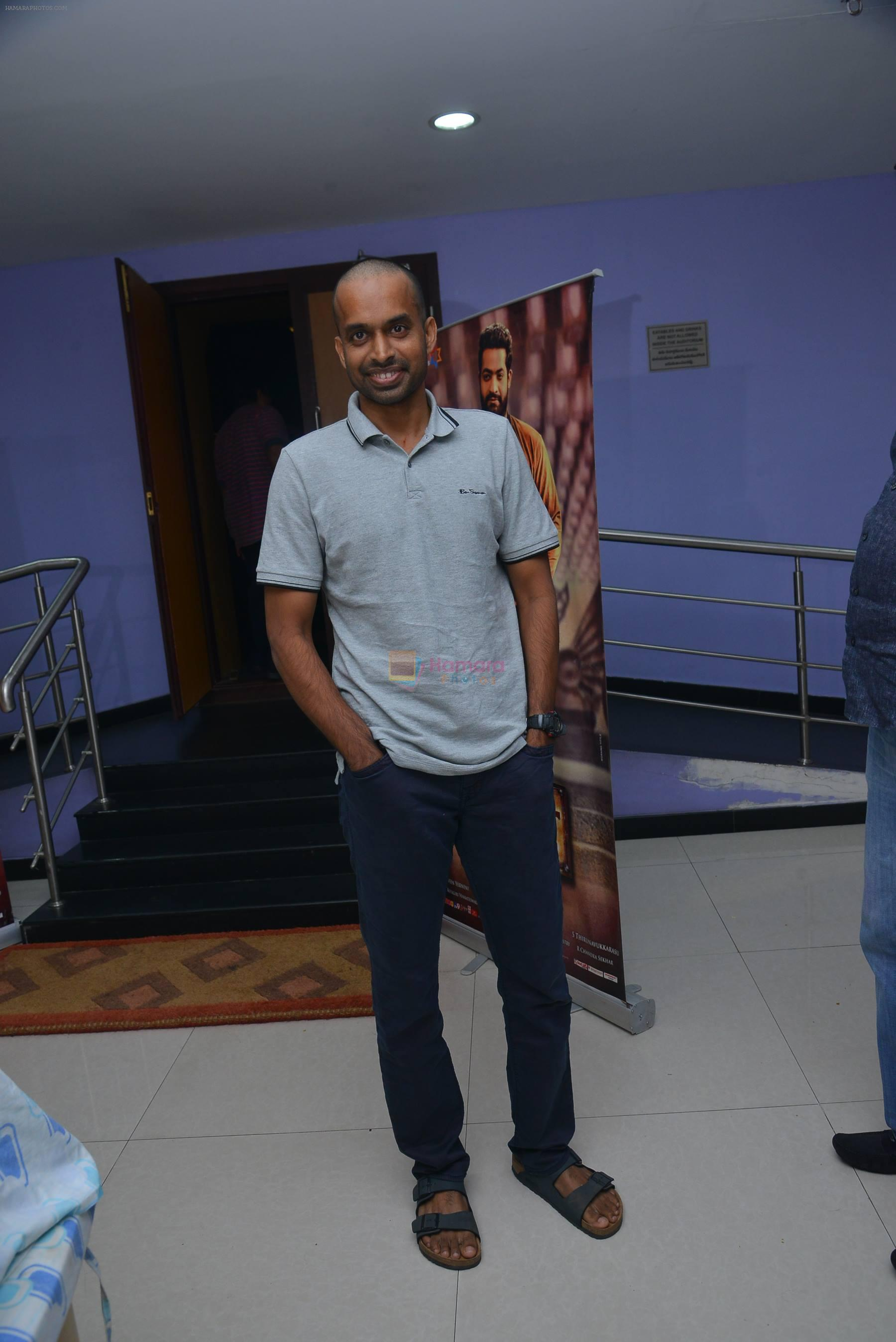 Pullela Gopichand at Janatha Garage show on 11th Sept 2016