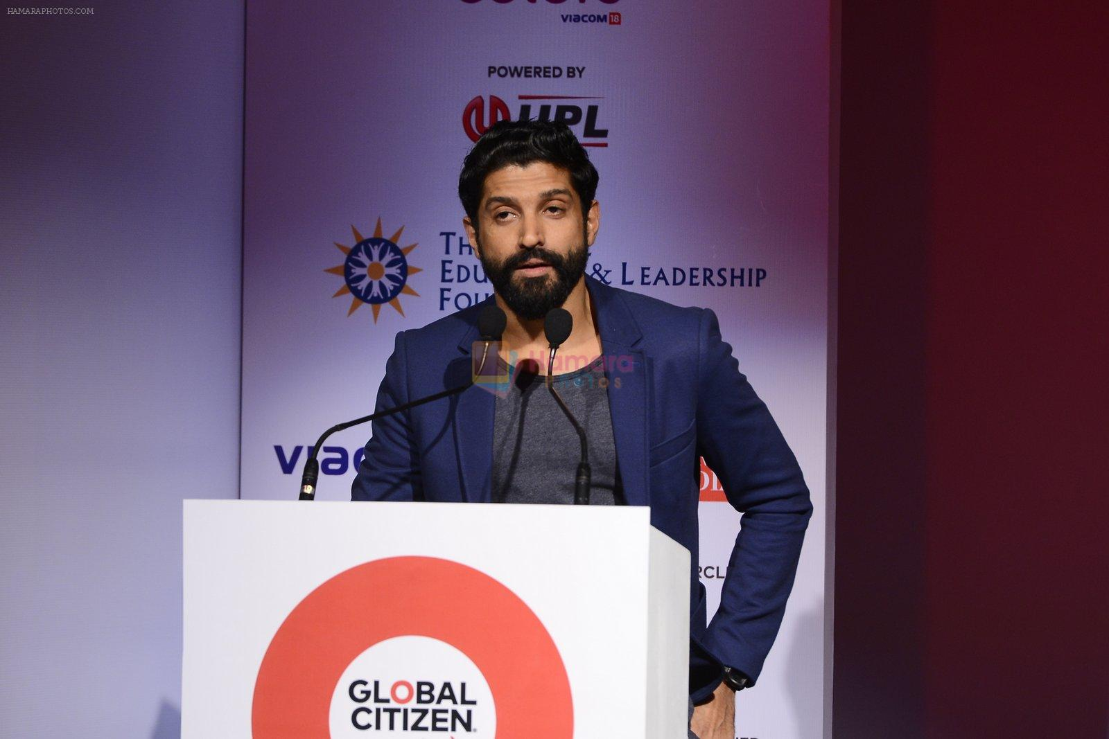 Farhan Akhtar at the launch of Global Citizen India on 11th Sept 2016