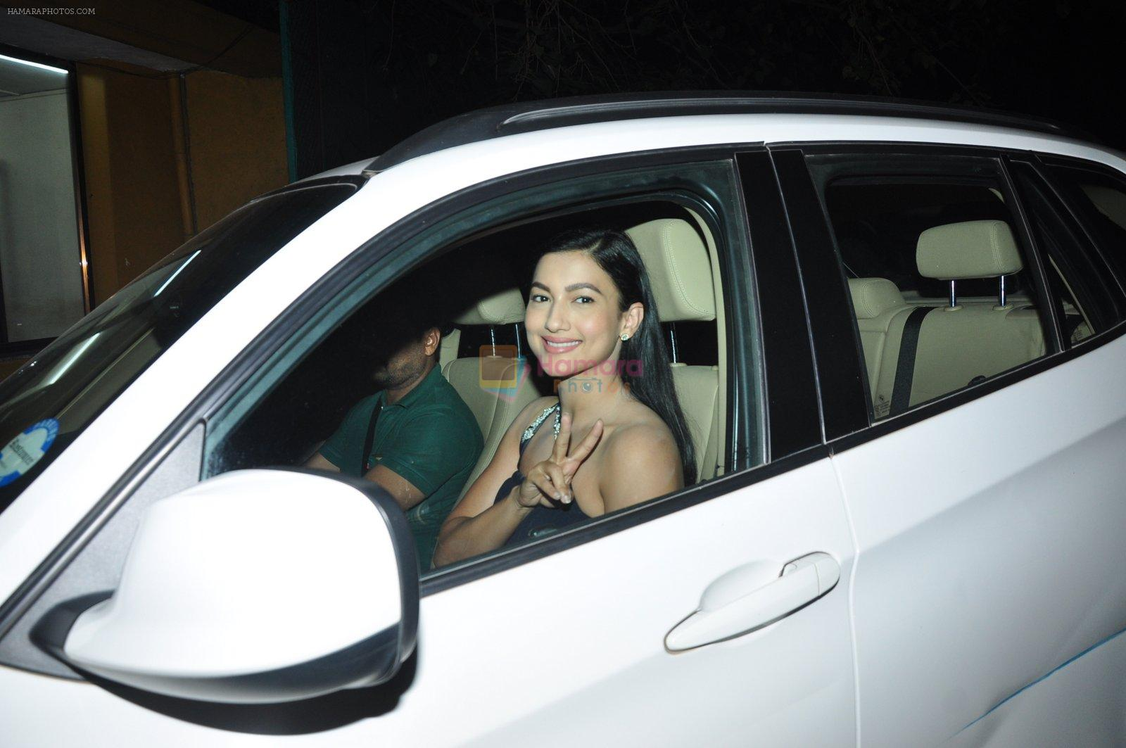 Gauhar Khan at Pink film screening in yashraj on 11th Sept 2016
