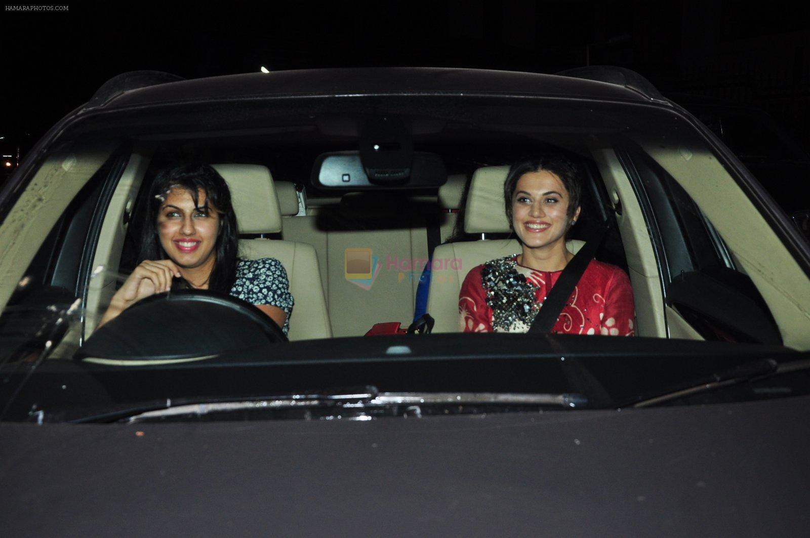 Taapsee Pannu at Pink film screening in yashraj on 11th Sept 2016