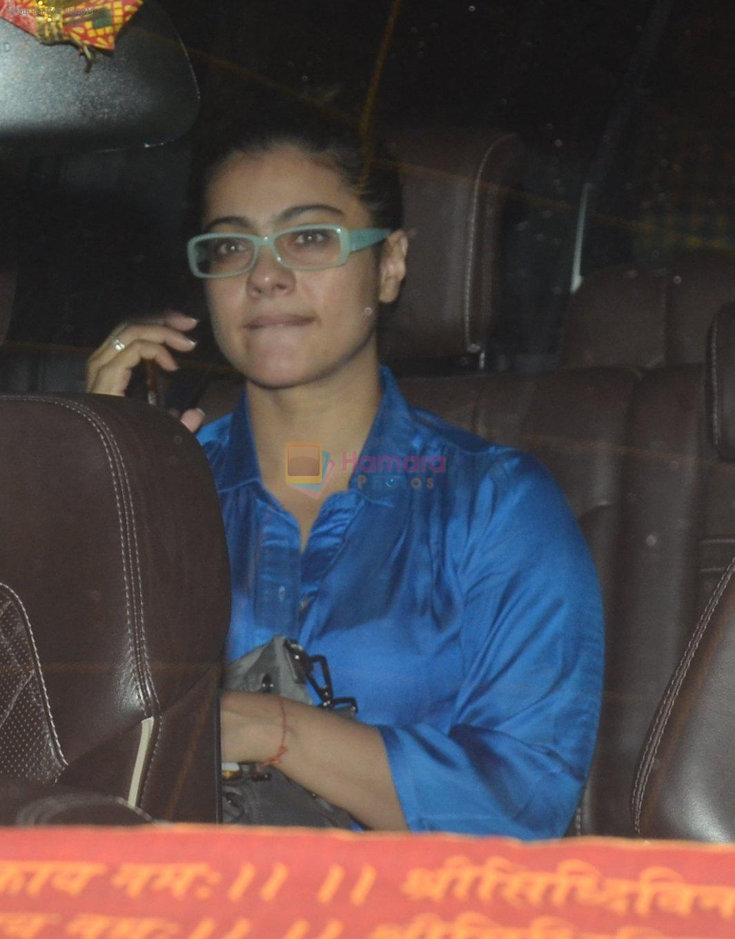 kajol snapped with family on 12th Sept 2016