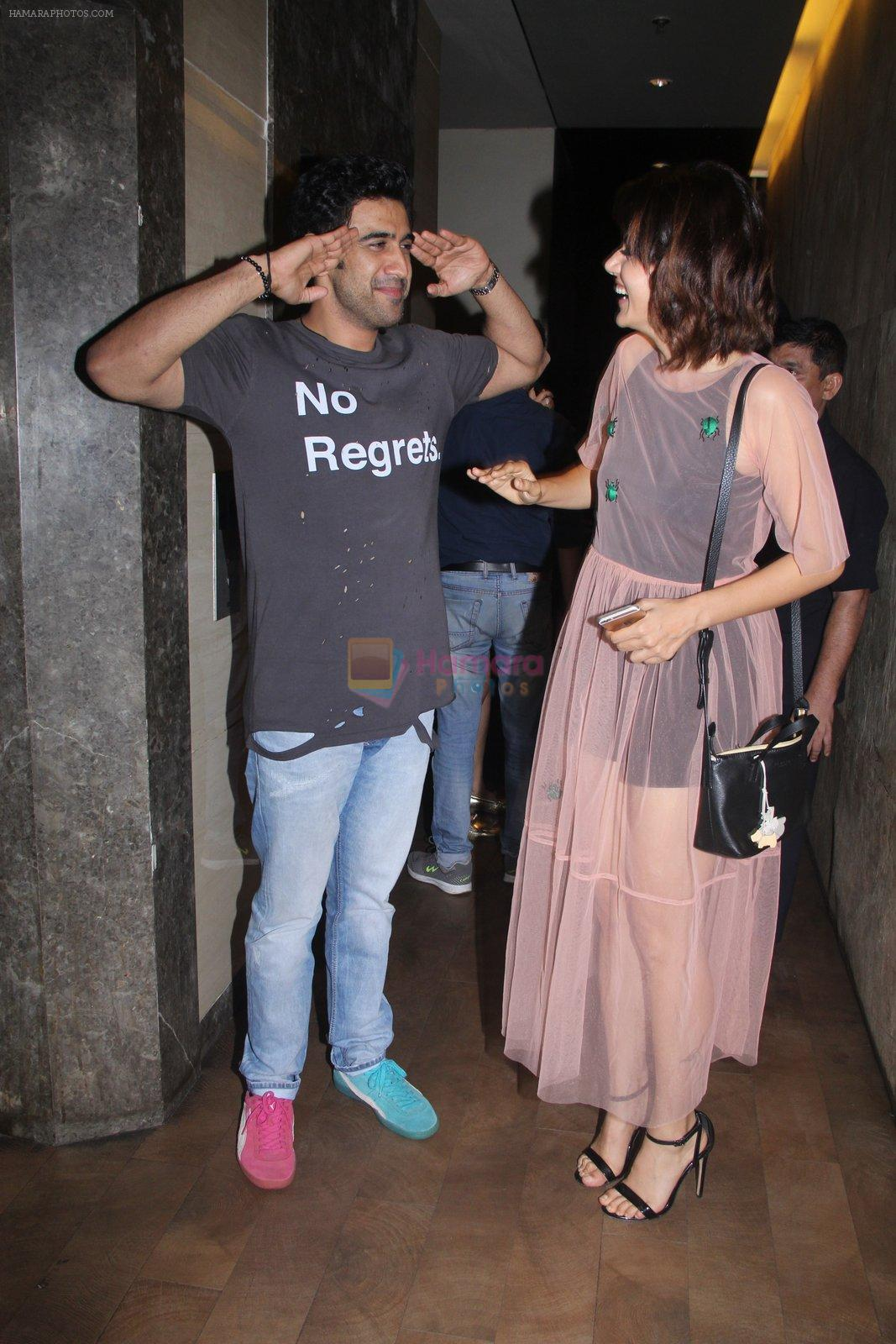 Amit Sadh, Taapsee Pannu at Pink Screening in Lightbox on 12th Sept 2016