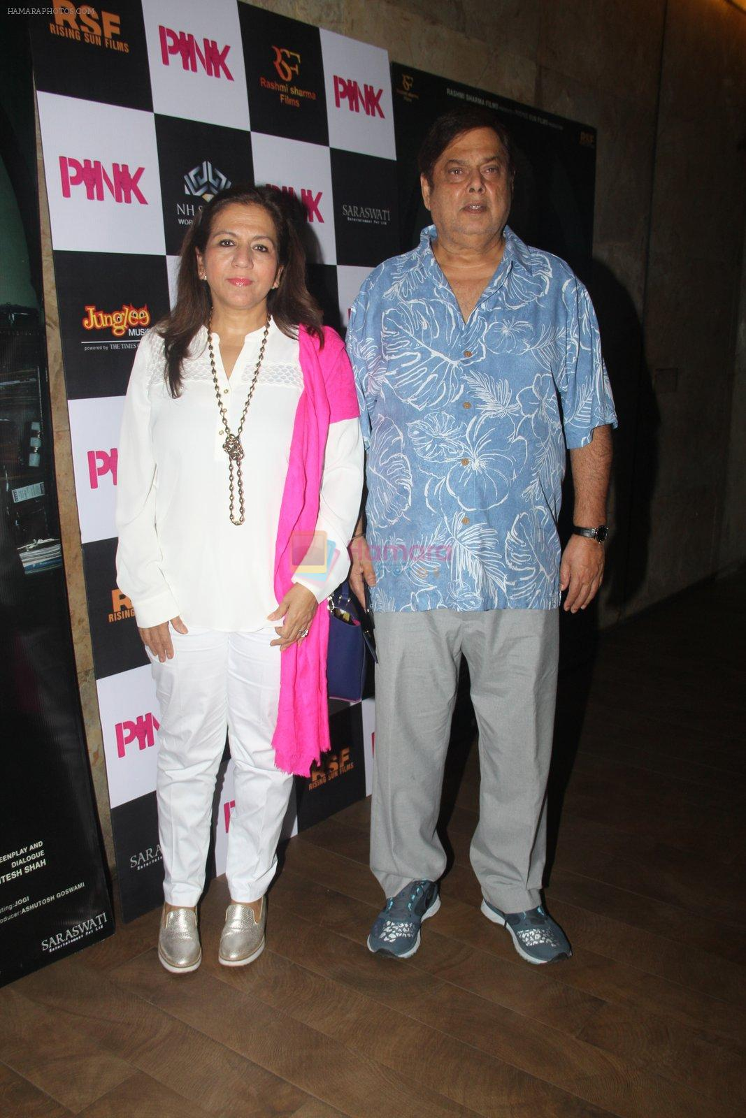 David Dhawan at Pink Screening in Lightbox on 12th Sept 2016
