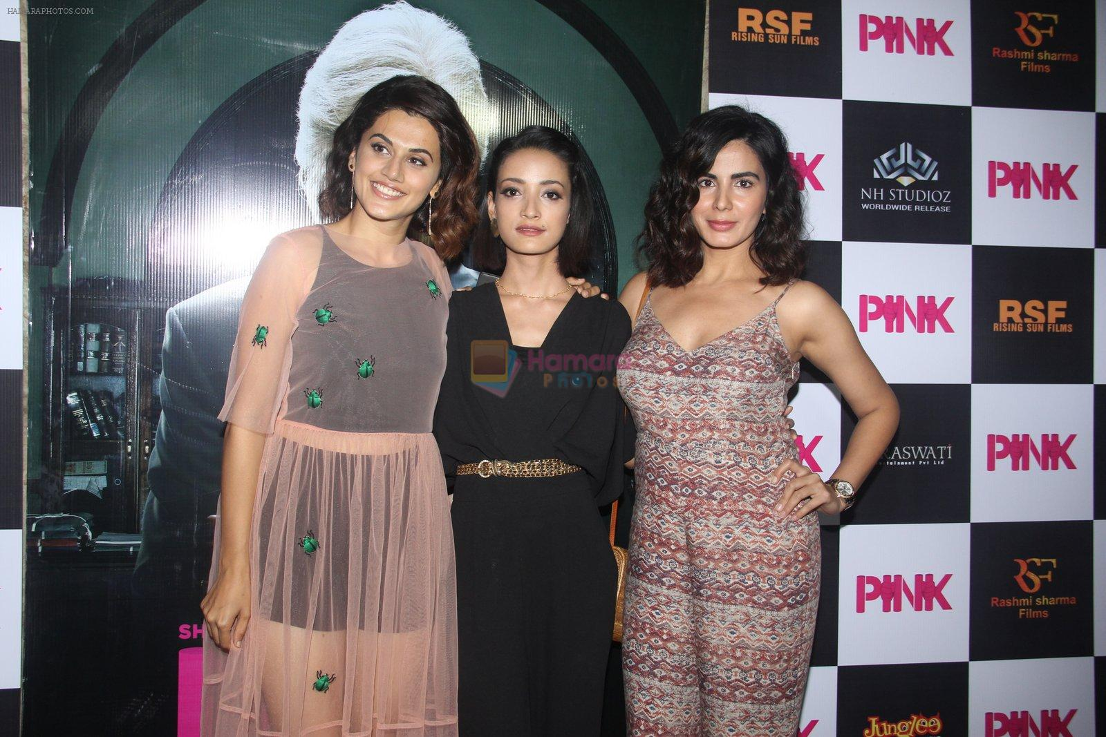 Kirti Kulhari, Taapsee Pannu, Andrea Tariang at Pink Screening in Lightbox on 12th Sept 2016