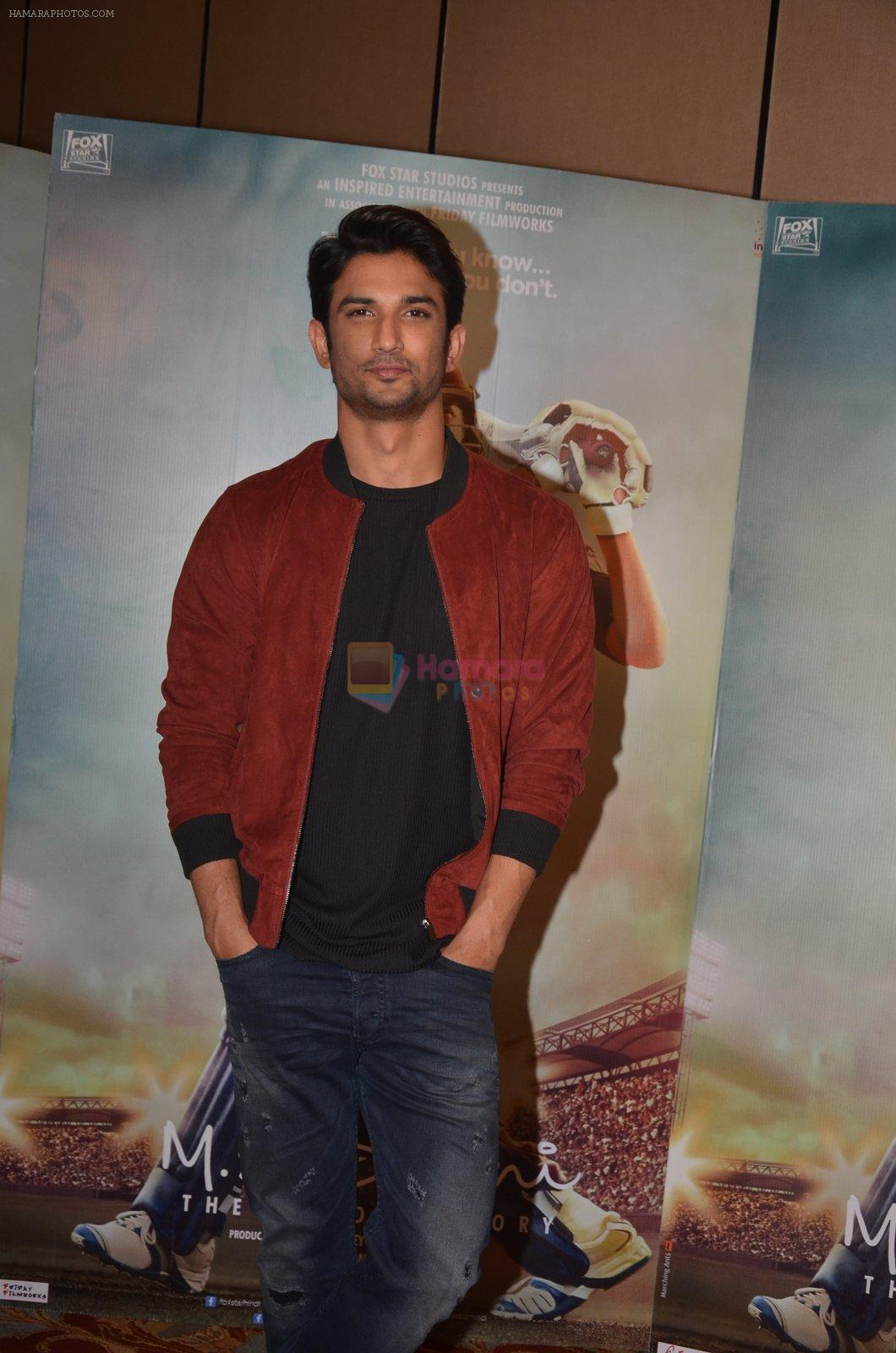 Sushant Singh Rajput snapped at the promotion of M S Dhoni movie on 12th Sept 2016
