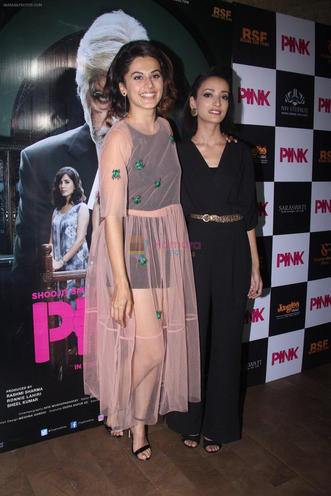 Andrea Tariang, Taapsee Pannu at Pink Screening in Lightbox on 12th Sept 2016