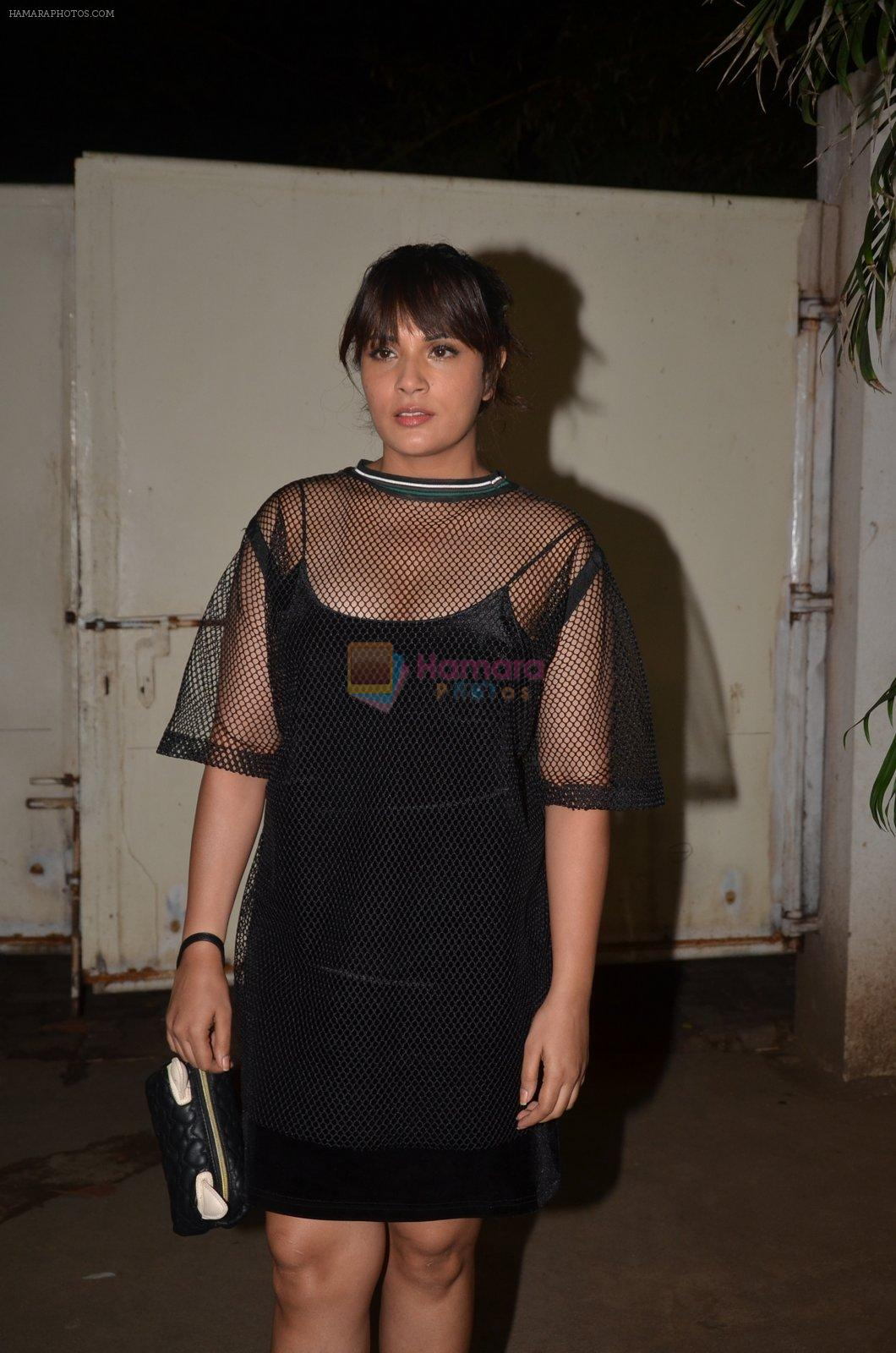 Richa Chadda at Pink Screening in Sunny Super Sound on 12th Sept 2016