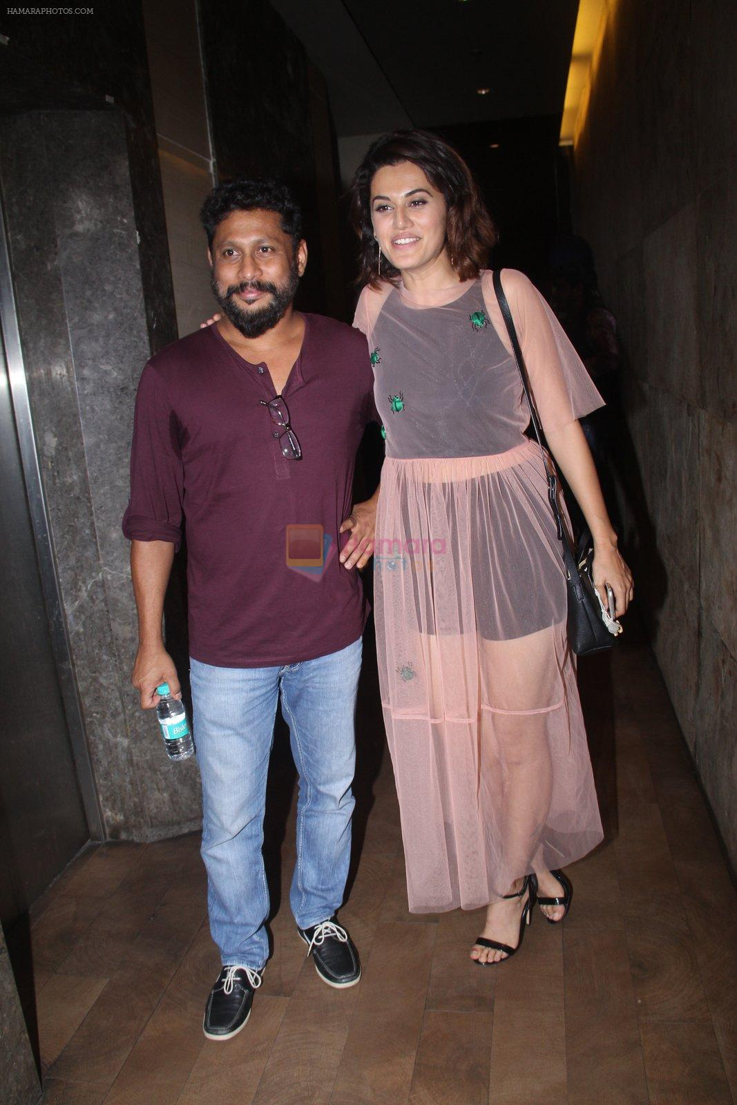 Shoojit Sircar, Taapsee Pannu at Pink Screening in Lightbox on 12th Sept 2016