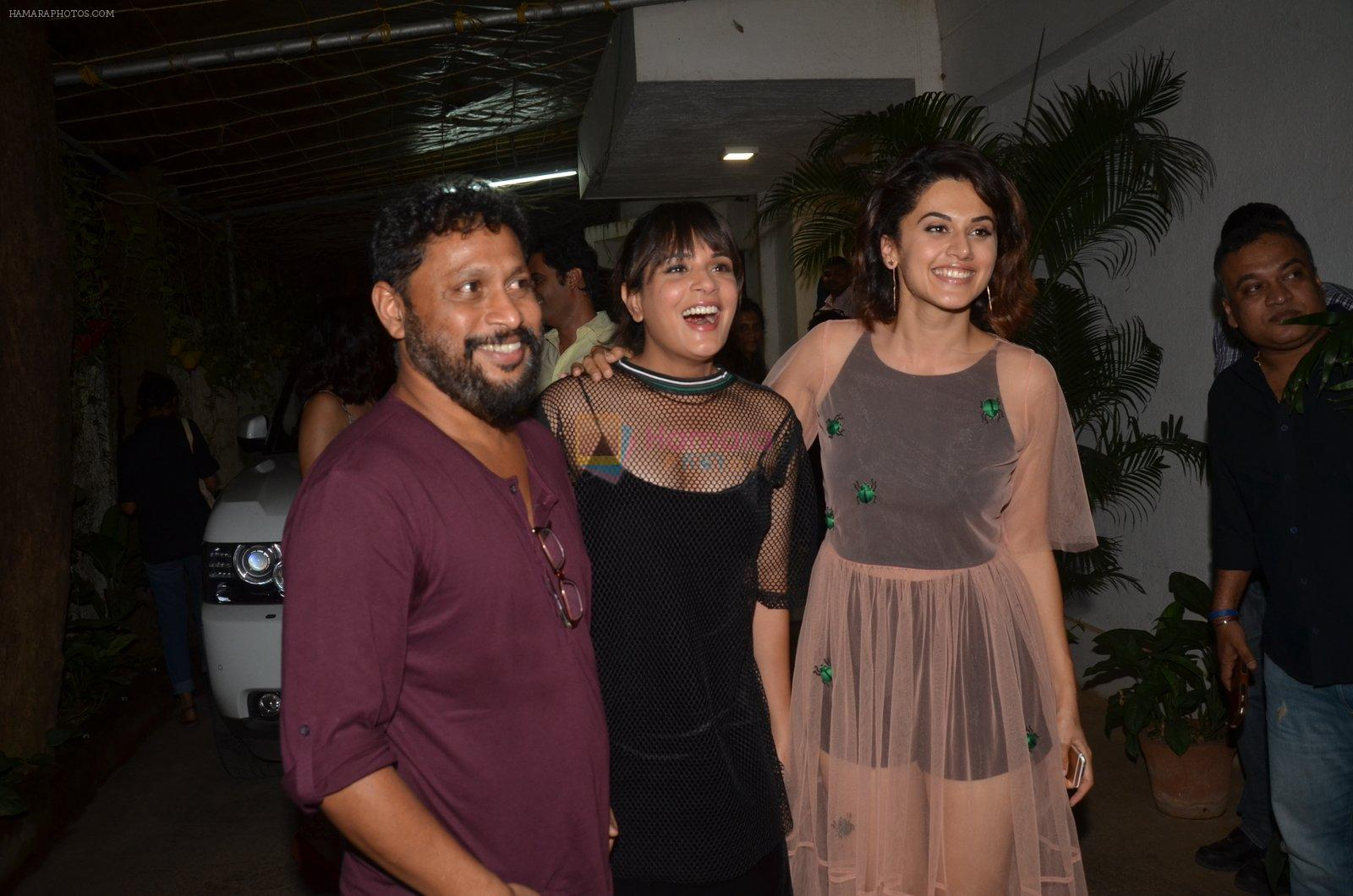 Richa Chadda, Taapsee Pannu at Pink Screening in Sunny Super Sound on 12th Sept 2016