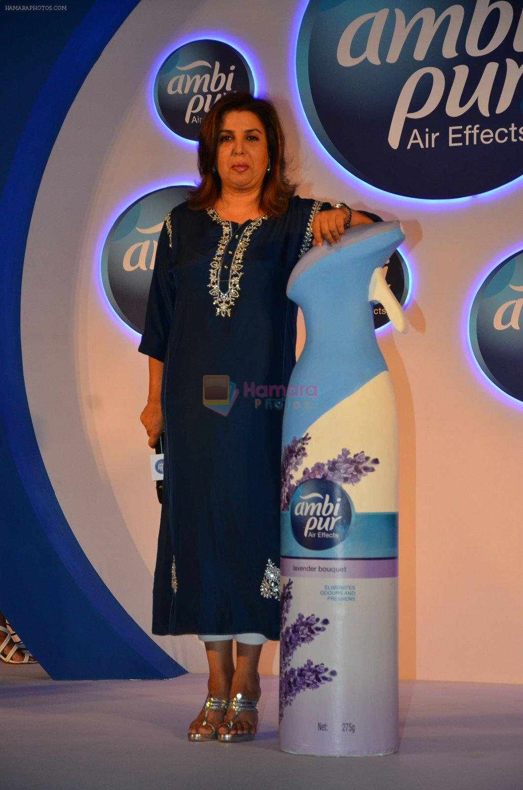 Farah Khan during a promotional event by Ambi Pur in Mumbai on 13th Sept 2016