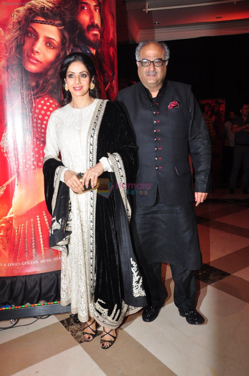 Sridevi, Boney Kapoor at the Audio release of Mirzya on 13th Sept 2016