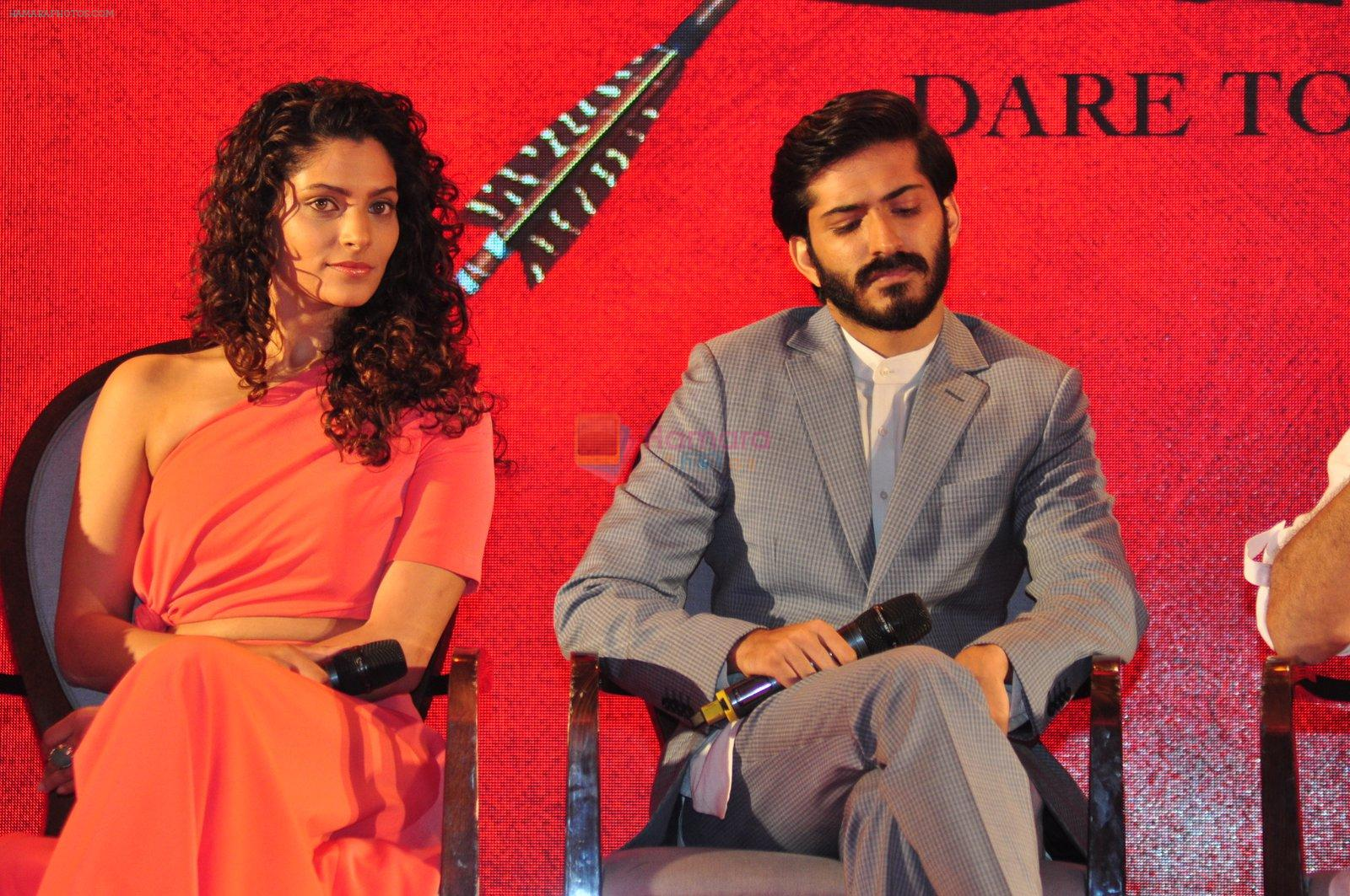 Harshvardhan Kapoor, Saiyami Kher at the Audio release of Mirzya on 13th Sept 2016