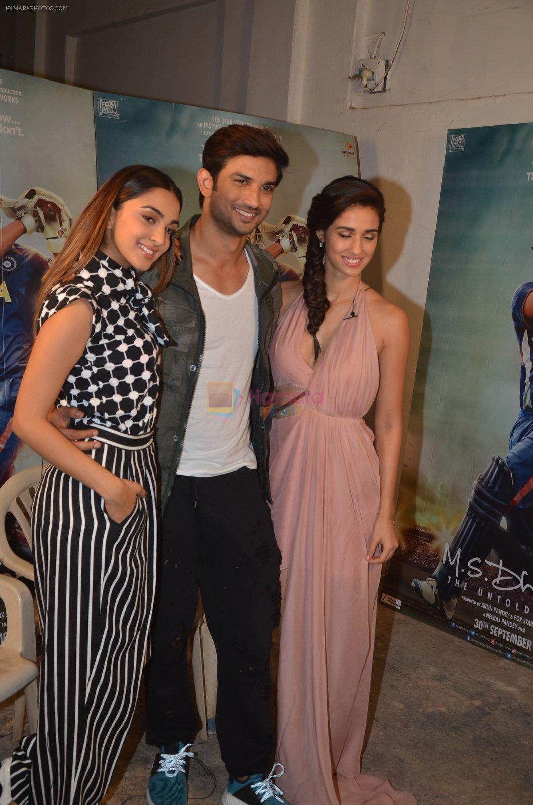 Sushant Singh Rajput, Kiara Advani, Disha Patani snapped promoting M.S. Dhoni - The Untold Story on 13th Sept 2016