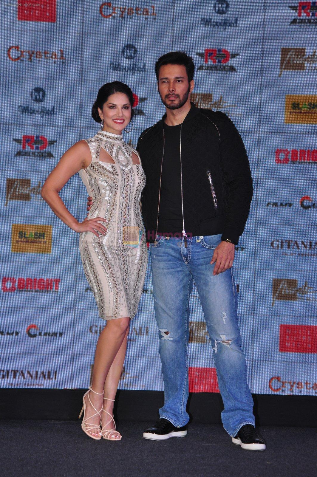 Sunny Leone, Rajneesh Duggal at the Audio release of Beiimaan Love on 14th Sept 2016