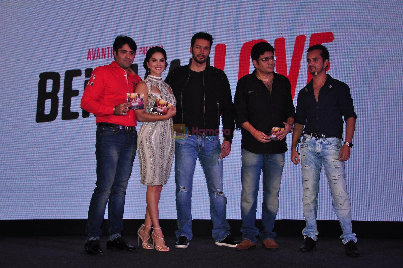 Rajeev Chaudhari, Sunny Leone, Rajneesh Duggal, Raghav Sachar at the Audio release of Beiimaan Love on 14th Sept 2016