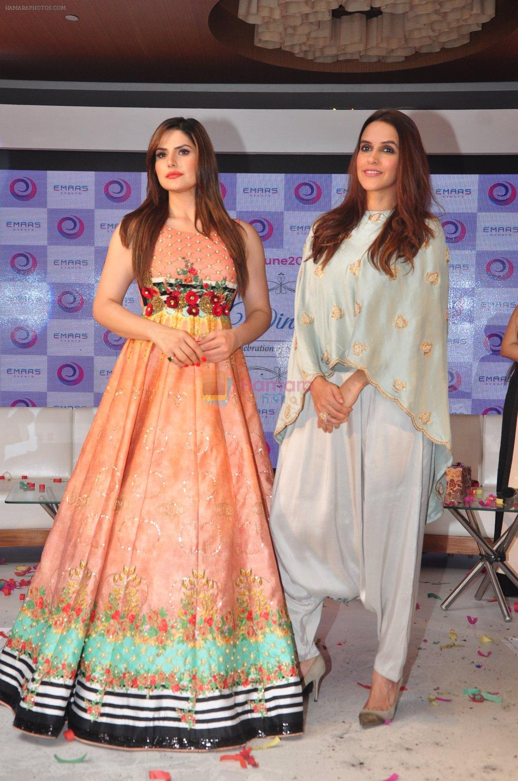 Neha Dhupia, Zarine Khan at the Emars events press conference in Pune on 18th Sept 2016
