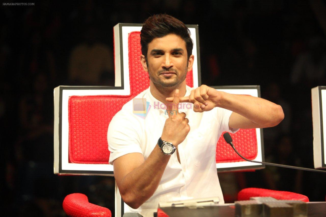 Sushant Singh Rajput on the sets of Dance Plus to promote his upcoming movie MS Dhoni