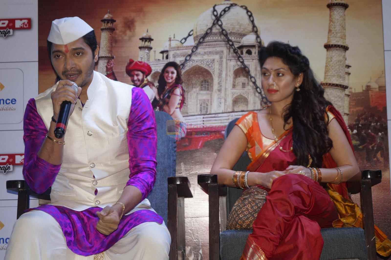 Shreyas Talpade, Manjari Phadnis at Wah Taj promotion in Delhi on 19th Sept 2016