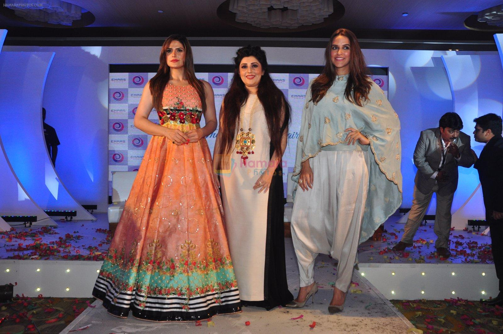 Neha Dhupia, Zarine Khan and Archana Kochhar at the Emars events press conference in Pune on 18th Sept 2016