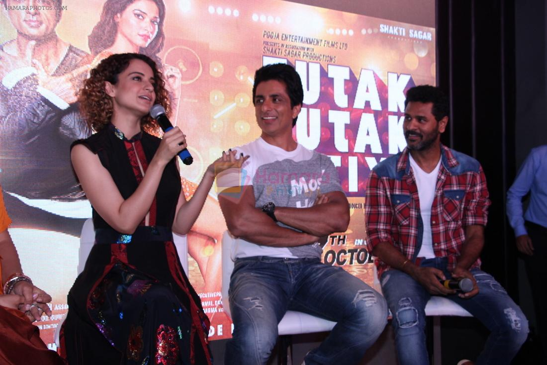 Kangana Ranaut, Sonu Sood, Prabhu Deva at Tutak Tutak Tutiya Song launch on 19th Sept 2016