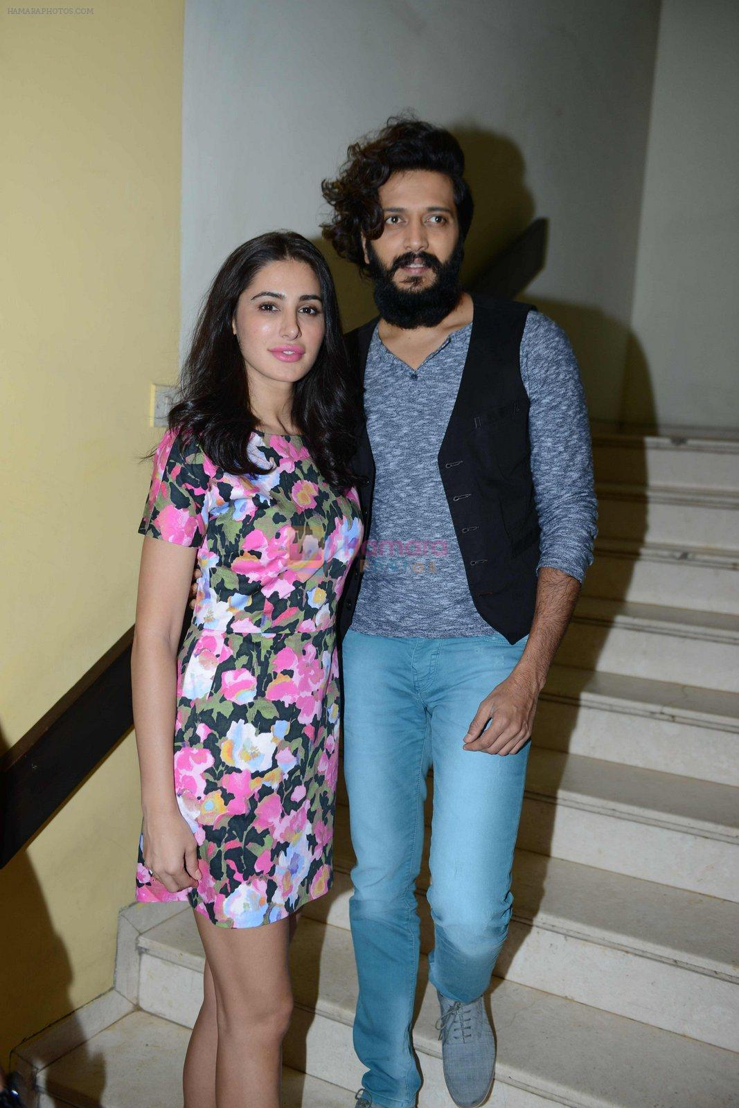 Nargis Fakhri, Riteish Deshmukh at Banjo press meet in Delhi on 19th Sept 2016