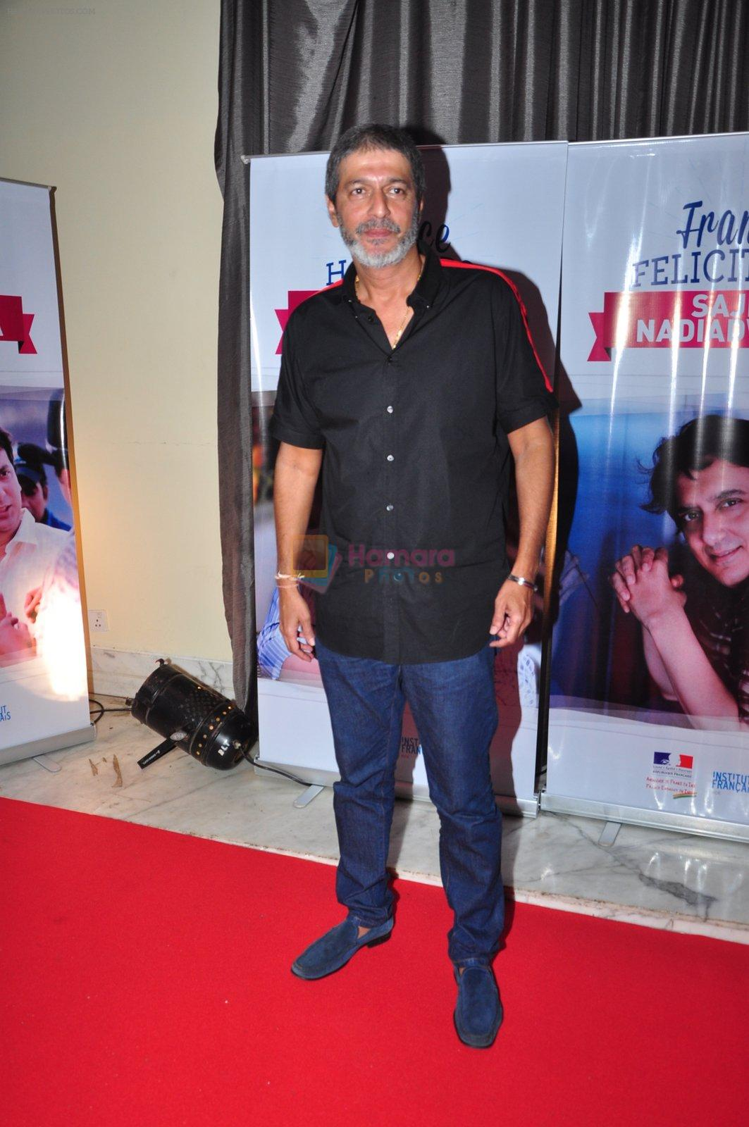Chunky Pandey at the launch of Sajid Nadiadwala's france honours on 20th Sept 2016
