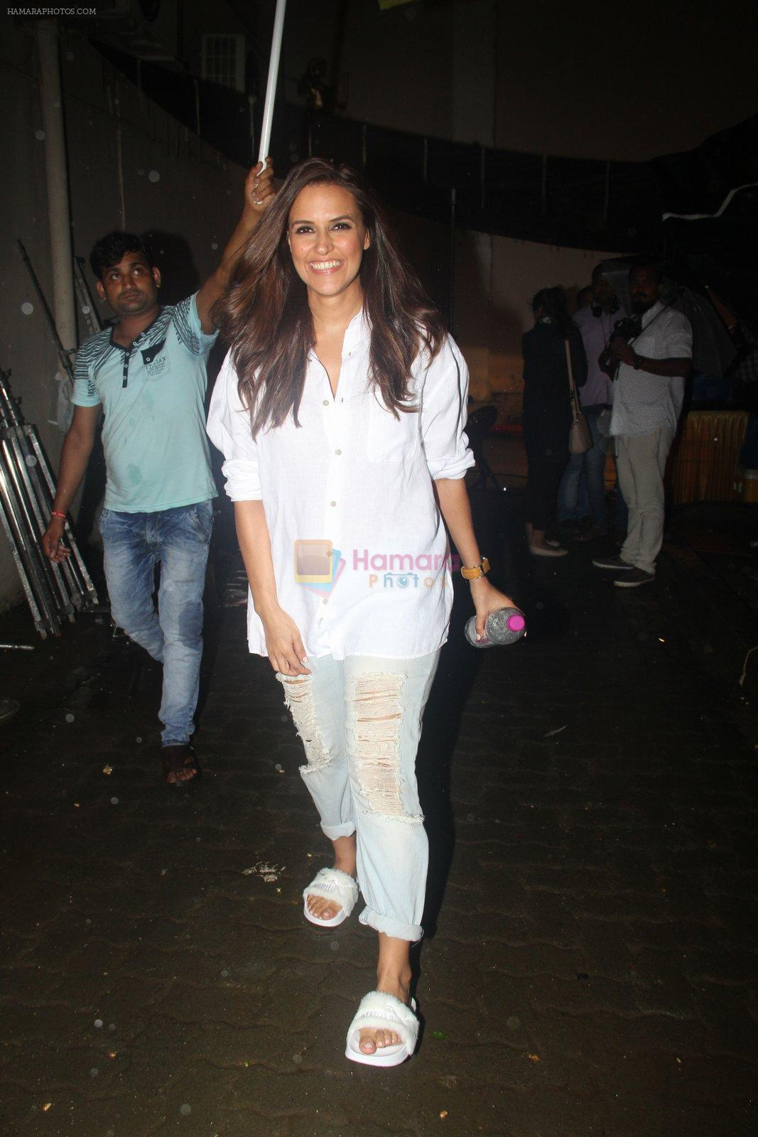 Neha Dhupia snapped at Mehboob studio for an ad shoot on 19th Sept 2016