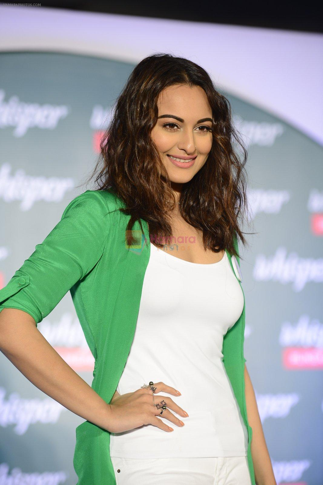 Sonakshi Sinha at Whisper new campaign launch on 20th Sept 2016