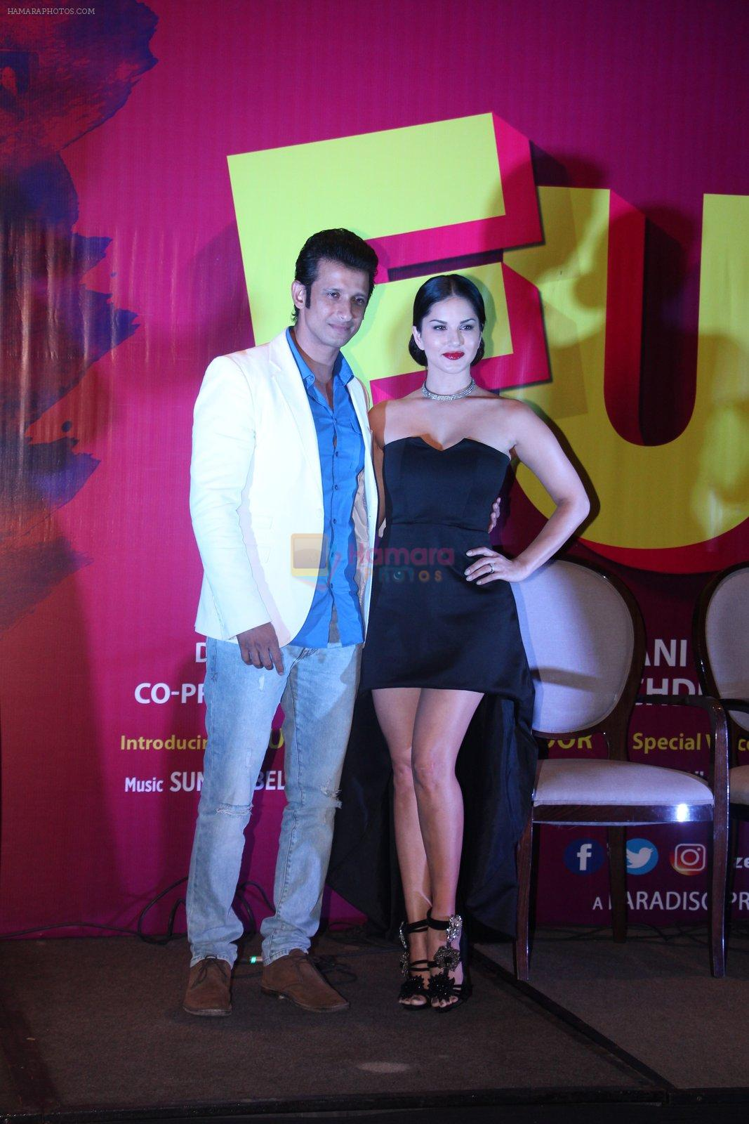 Sunny Leone, Sharman Joshi at the launch of film Fuddu song, Tu Zaroorat Nahi Tu Zaroori Hai on 20th Sept 2016