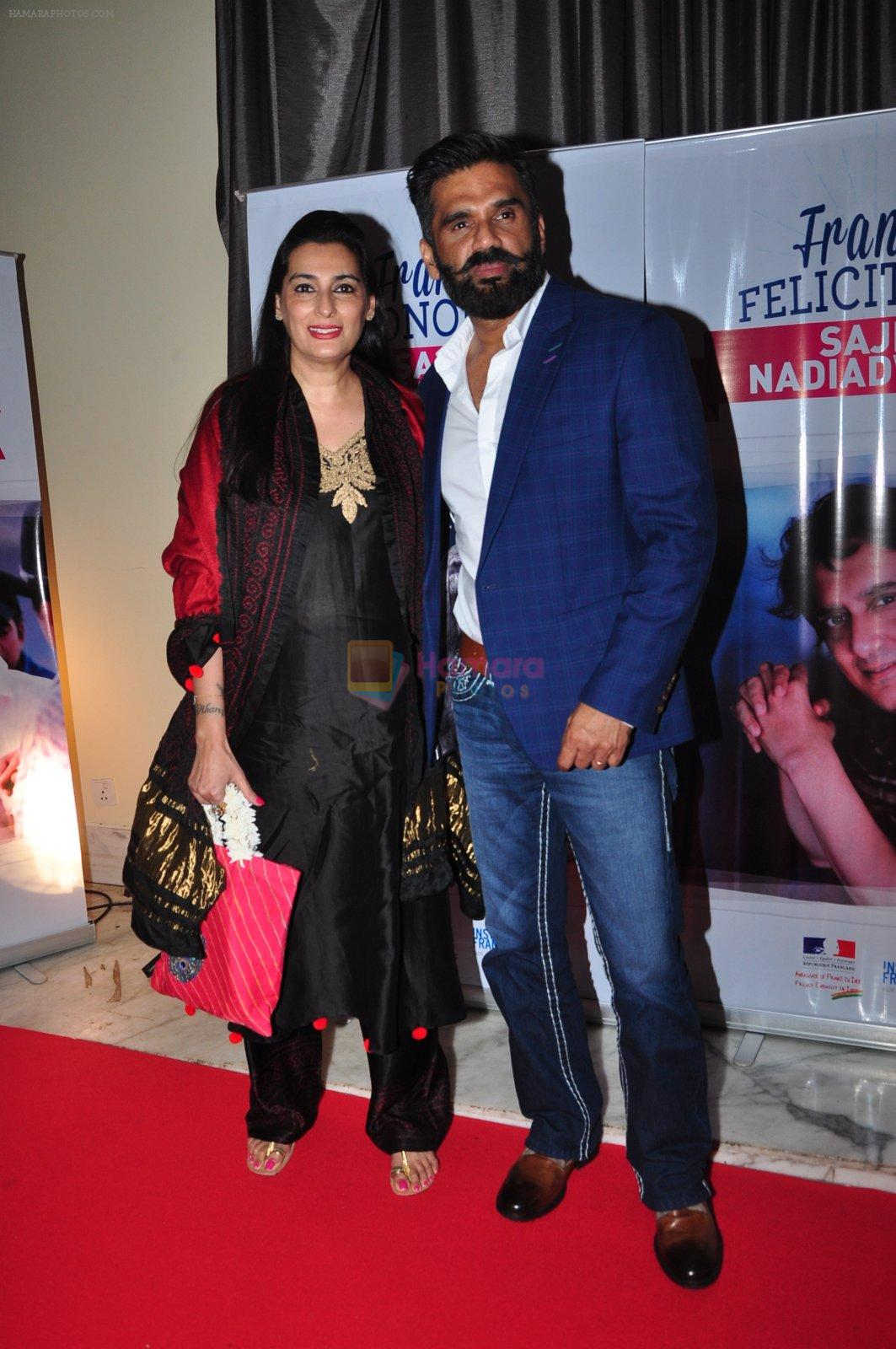Sunil Shetty at the launch of Sajid Nadiadwala's france honours on 20th Sept 2016