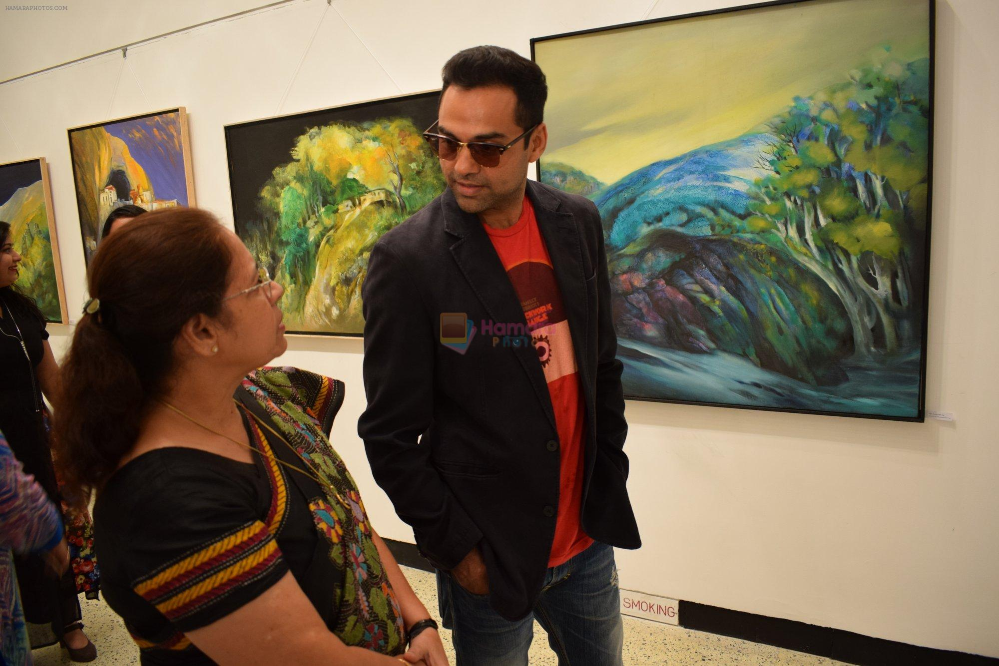 Abhay Deol at Manjula Chaturvedi art exhibition on 20th Sept 2016