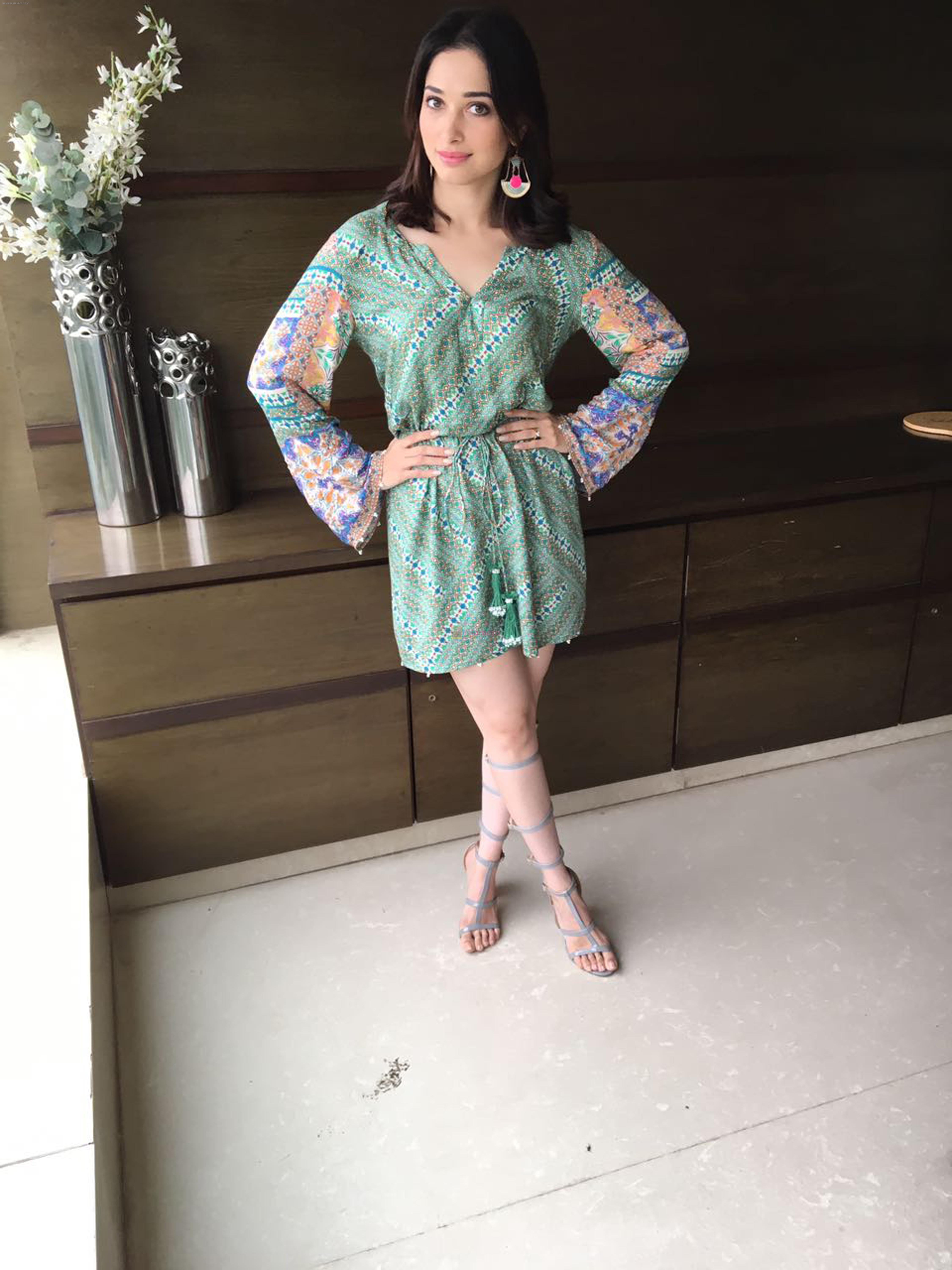 Tamannah Bhatia looking ravishing during the promotions of of her upcoming film Tutak Tutak Tutiya