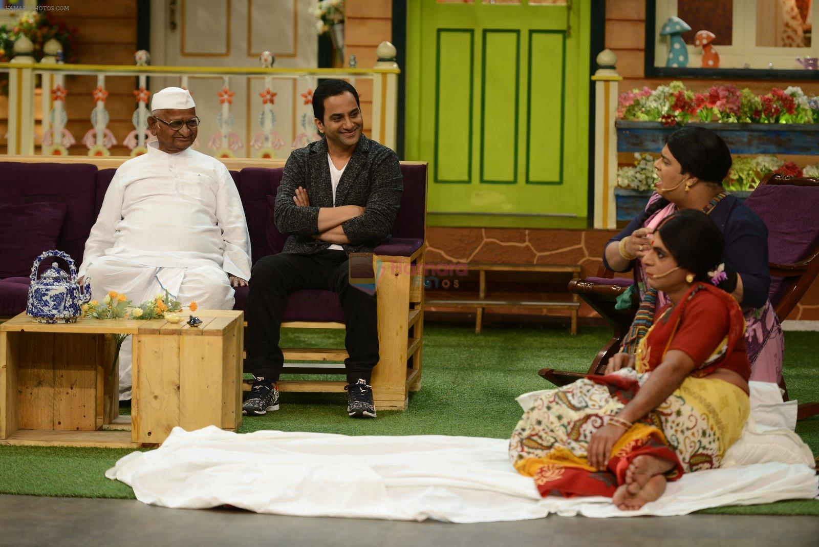 Anna Hazare on the sets of The Kapil Sharma Show