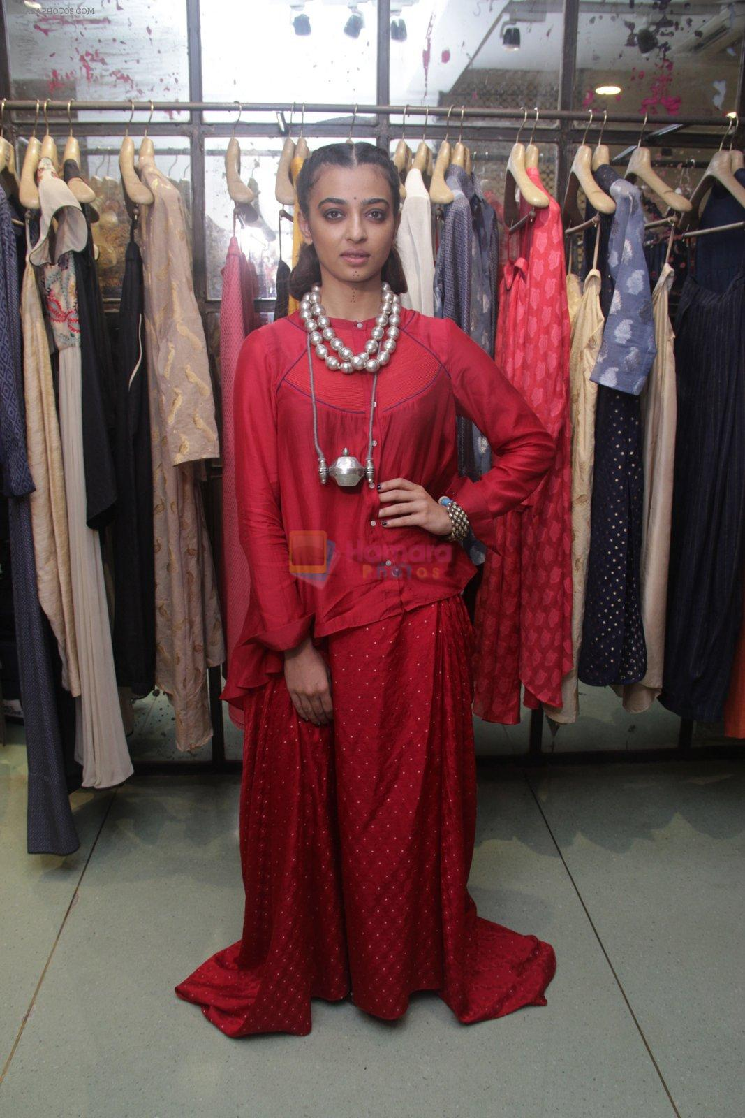 Radhika Apte unveil Festive Edit of new Luxury Pret label AMOH by Designers Monica & Karishma of JADE on 26th Sept 2016