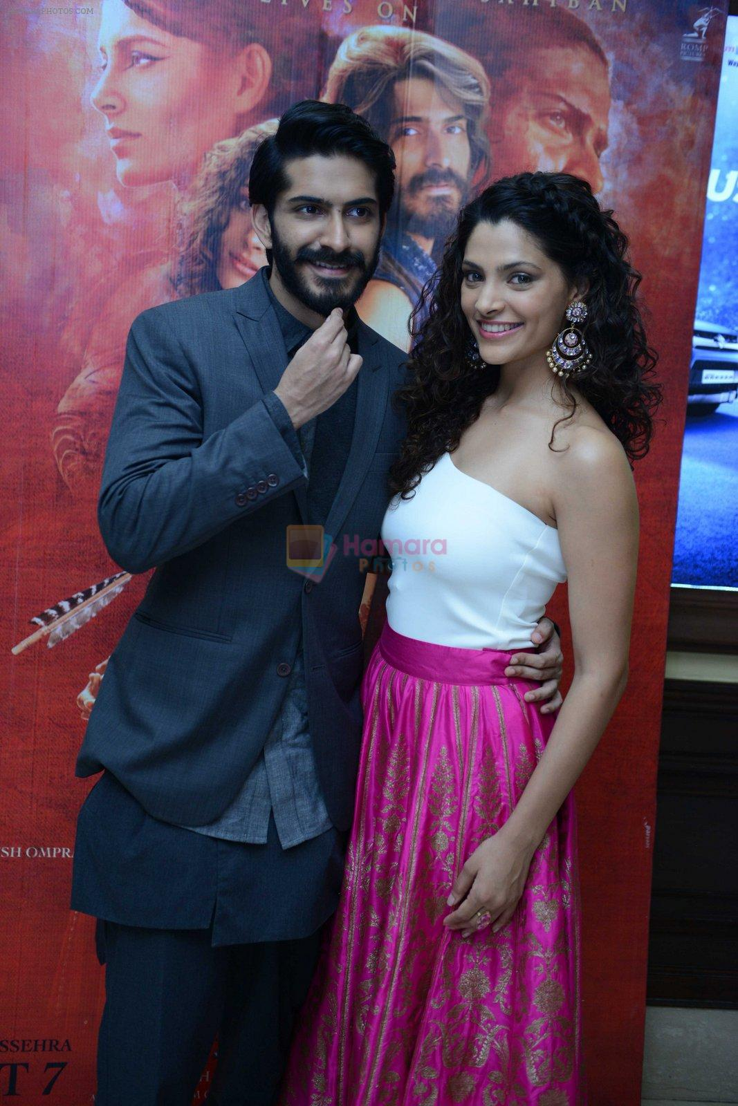 Harshvardhan Kapoor, Saiyami Kher at Mirzya press conference in delhi on n26th Sept 2016