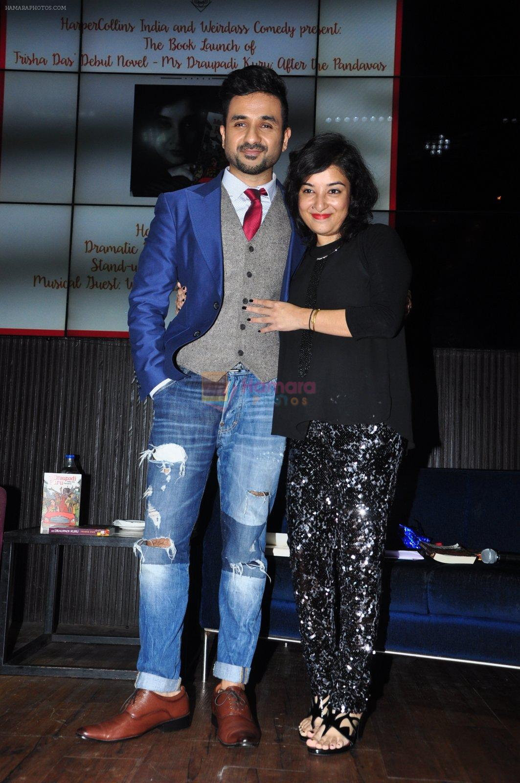 Vir Das launch Trisha Das new book Mrs Draupadi Kuru on 24th Sept 2016