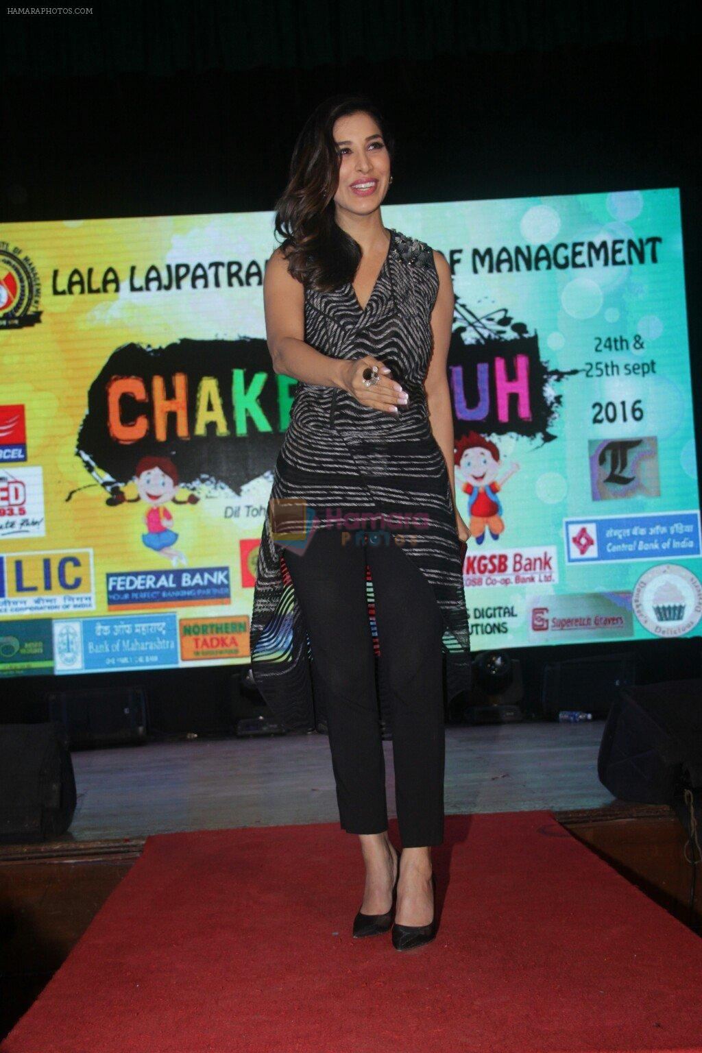 Sophie Choudry at lala lajpatrai college Fest on 25th Sept 2016