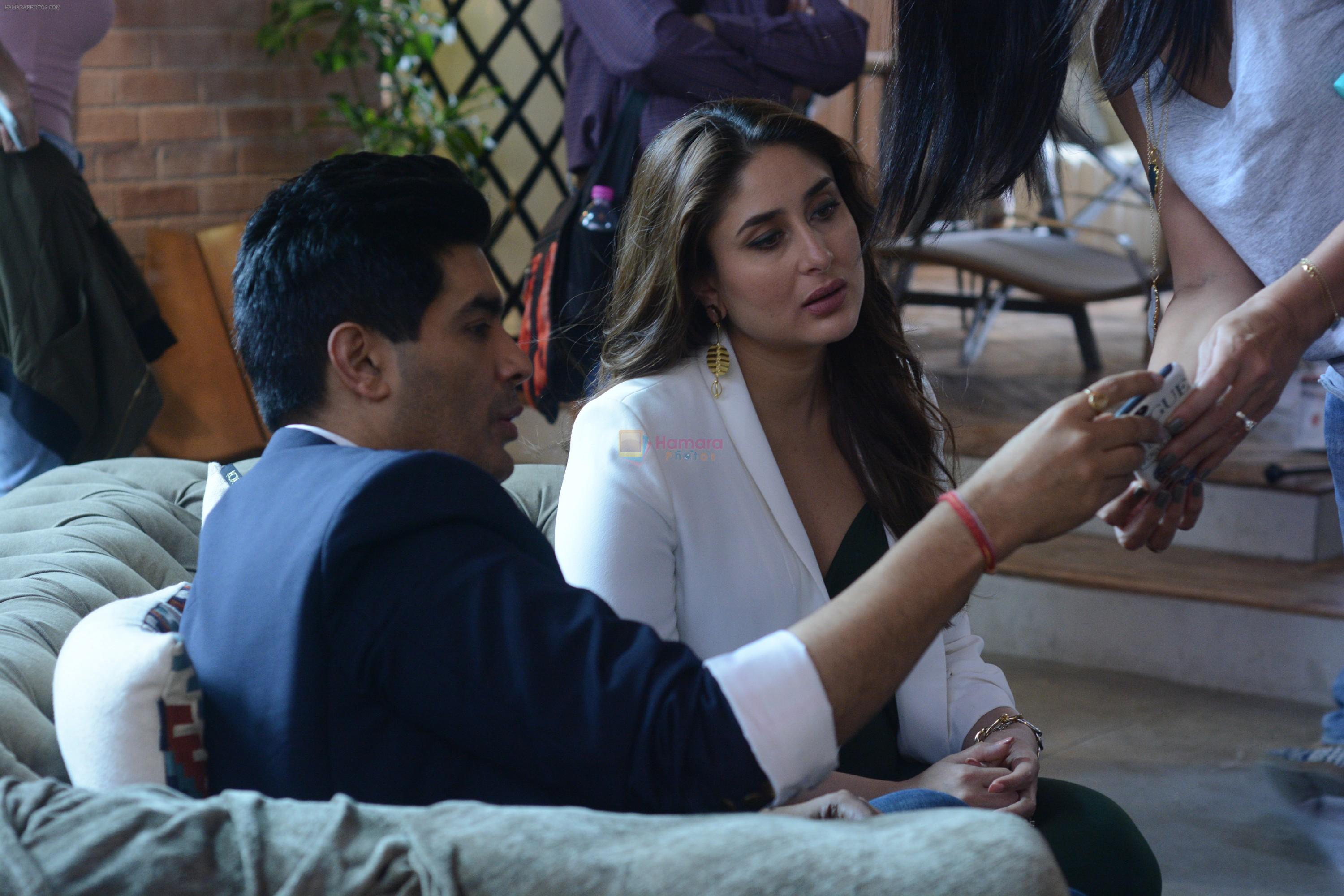 Kareena Kapoor and Manish Malhotra at the shoot of Vogue BFFs on COLORS Infinity