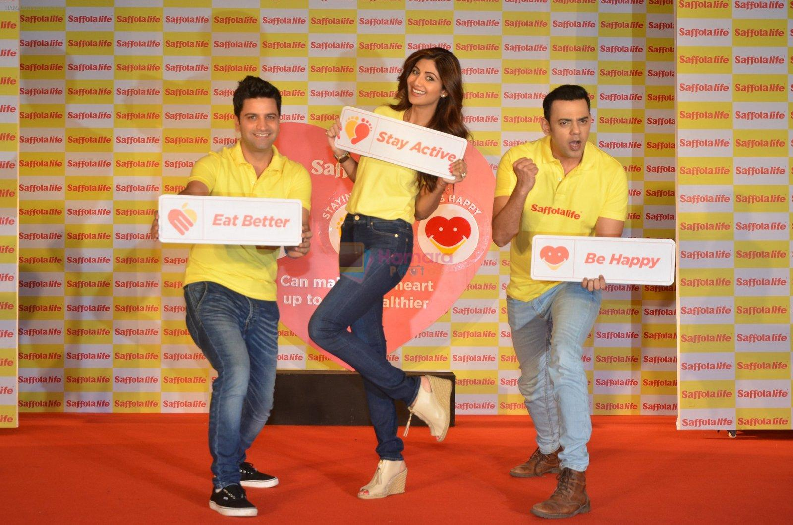 Shilpa Shetty, Kunal Kapur, Cyrus Sahukar during the World Heart Day program organized by Saffola Life in Mumbai on 28th Sept 2016