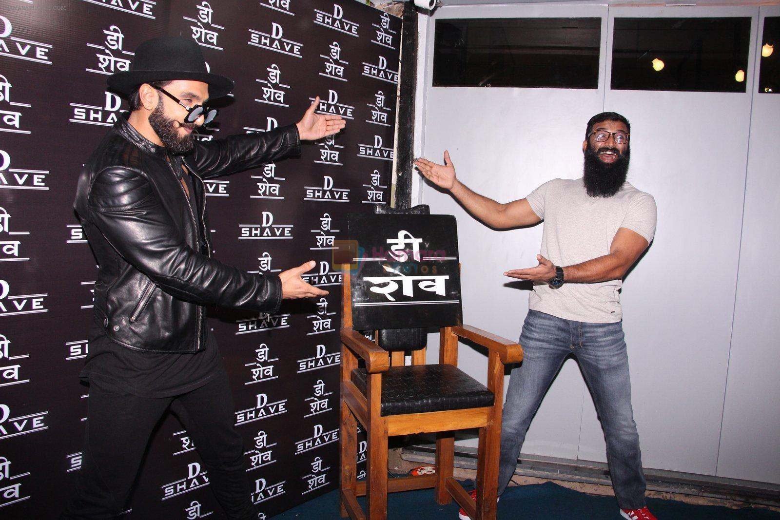 Ranveer Singh inaugurates D Shave salon by his personal hair stylist on 27th Sept 2016