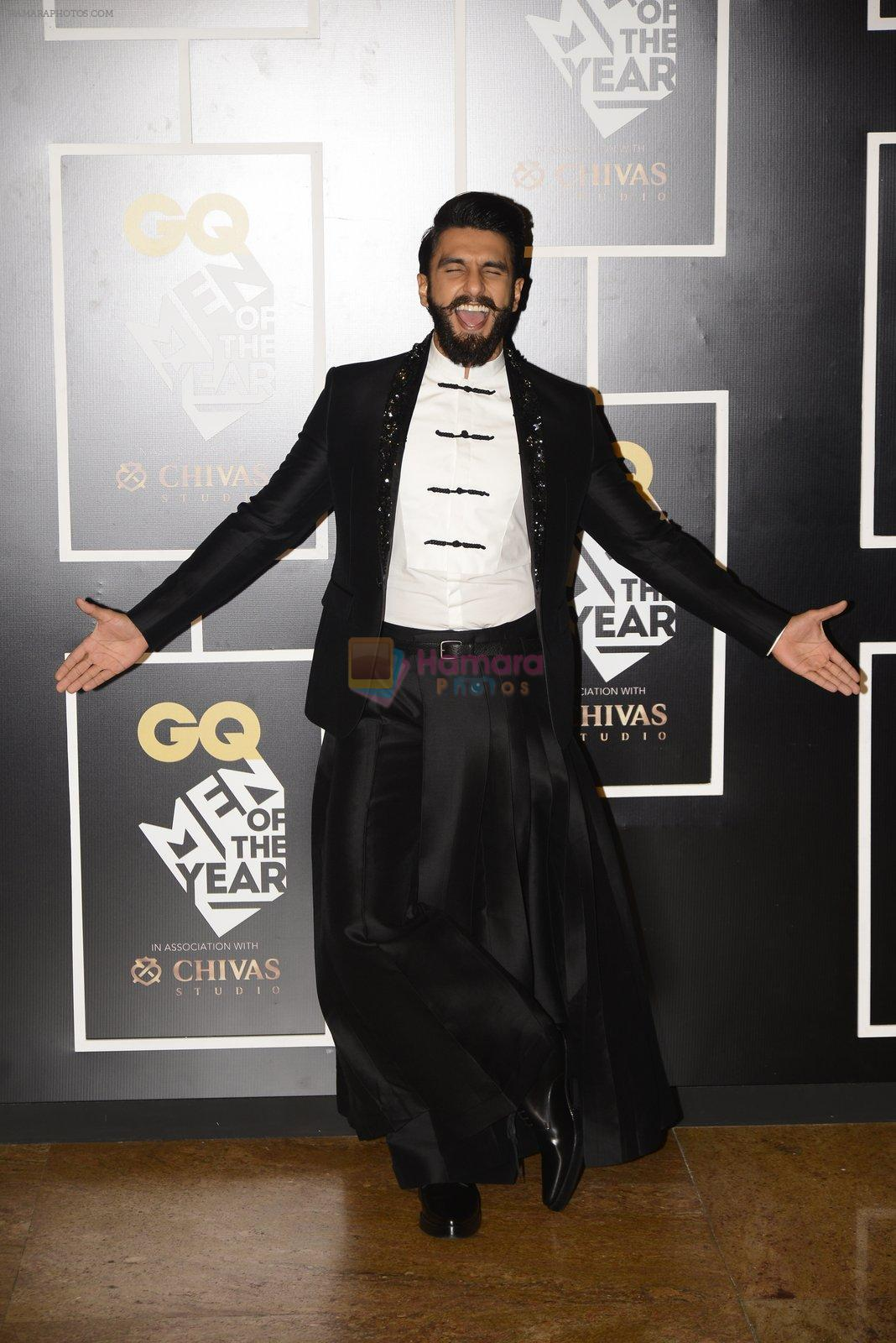 Ranveer Singh at GQ MEN OF THE YEAR on 27th Sept 2016